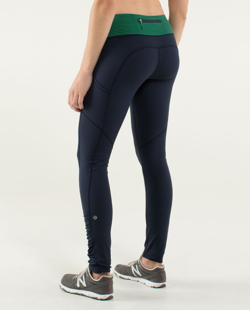 Lululemon Speed Tight *Cozy - Inkwell / Hyper Stripe Green Bean