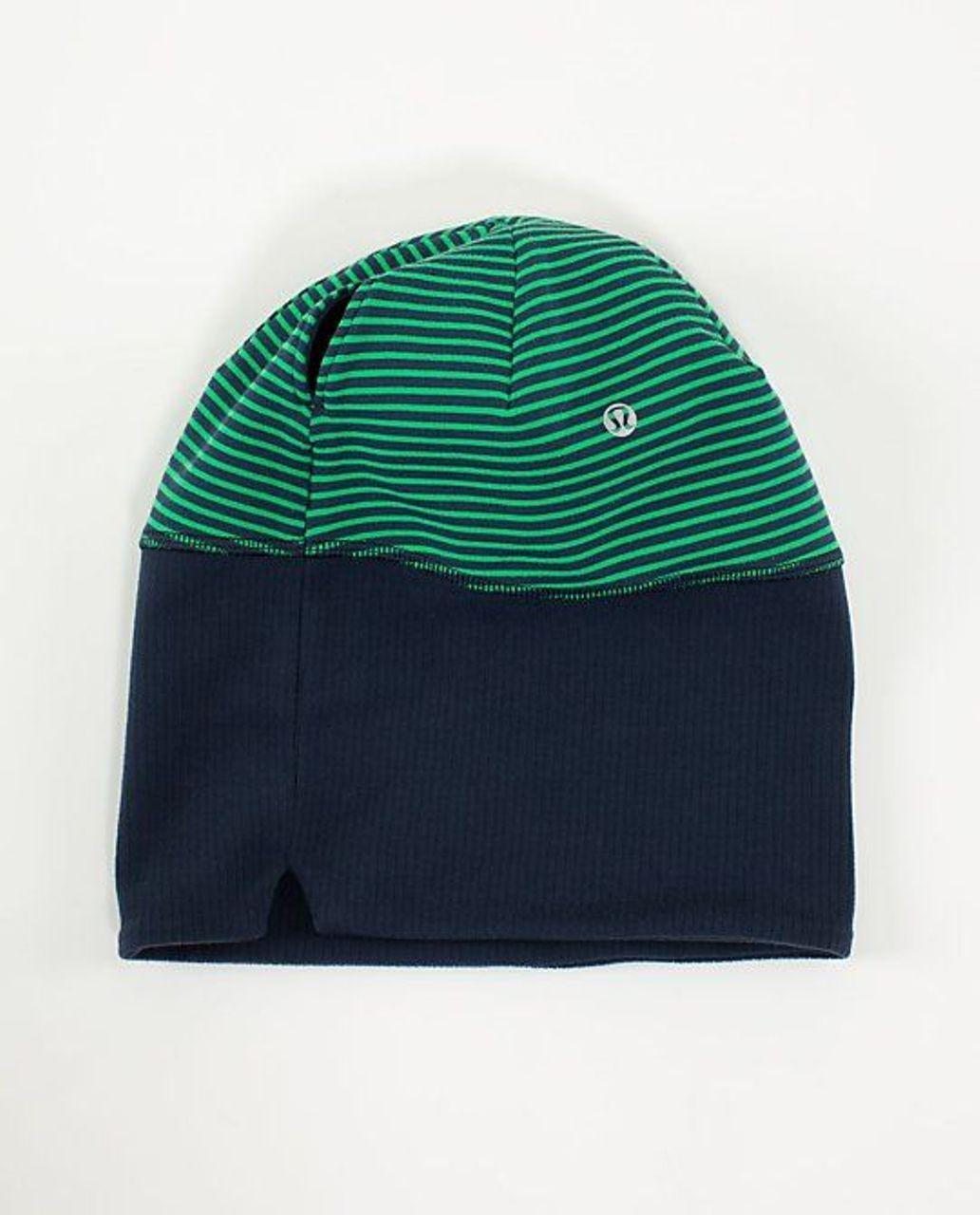 Lululemon Run With Me Toque - Hyper Stripe Green Bean / Inkwell