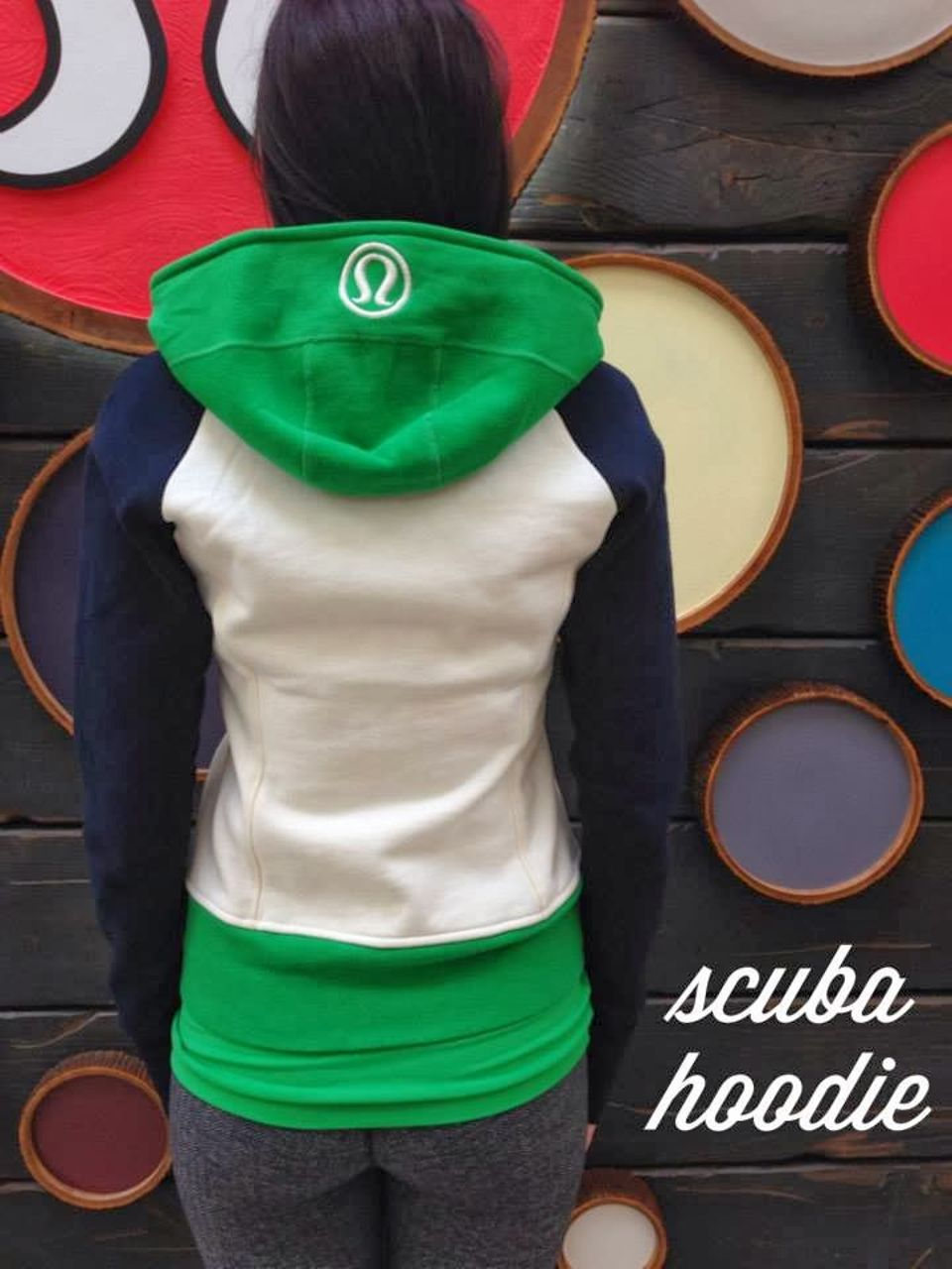Lululemon Scuba Hoodie *Stretch (Lined Hood) - Angel Wing / Green Bean / Inkwell