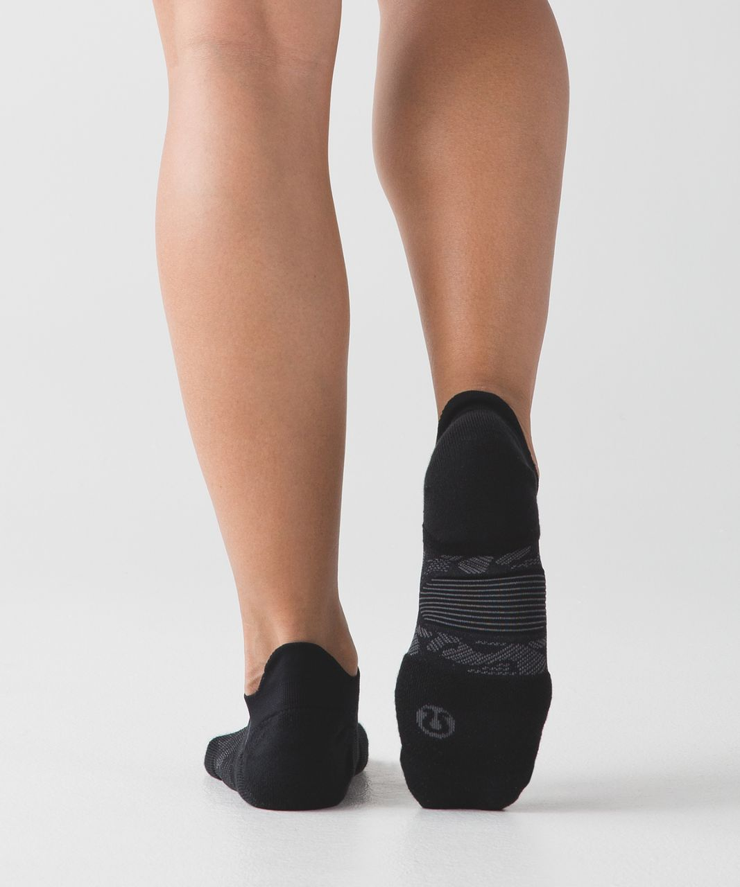 Lululemon High Speed Sock (Silver) - Black / Dark Carbon