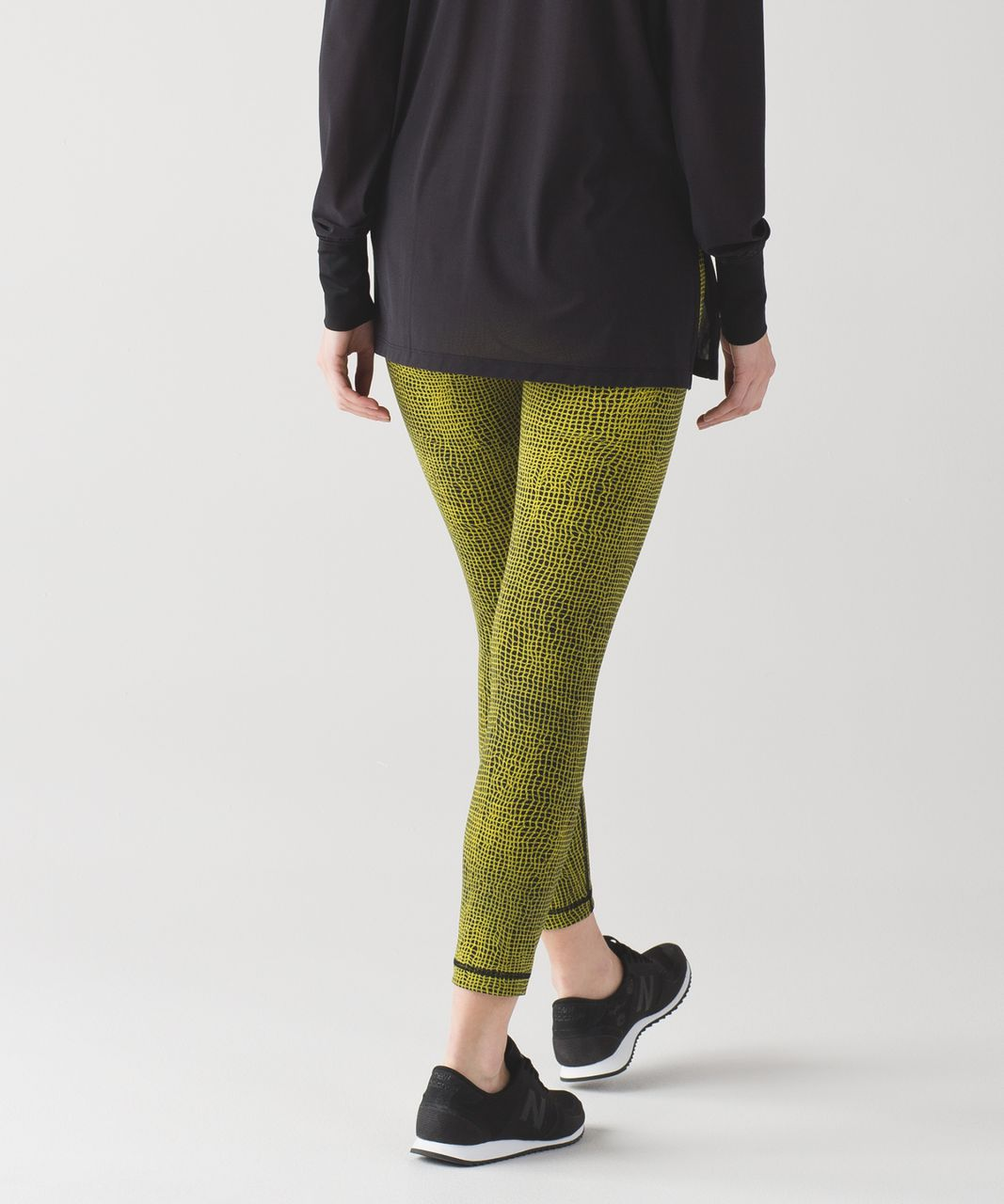 Lululemon High Times Pant (Full-On Luon) - Fall Net Toxic Black