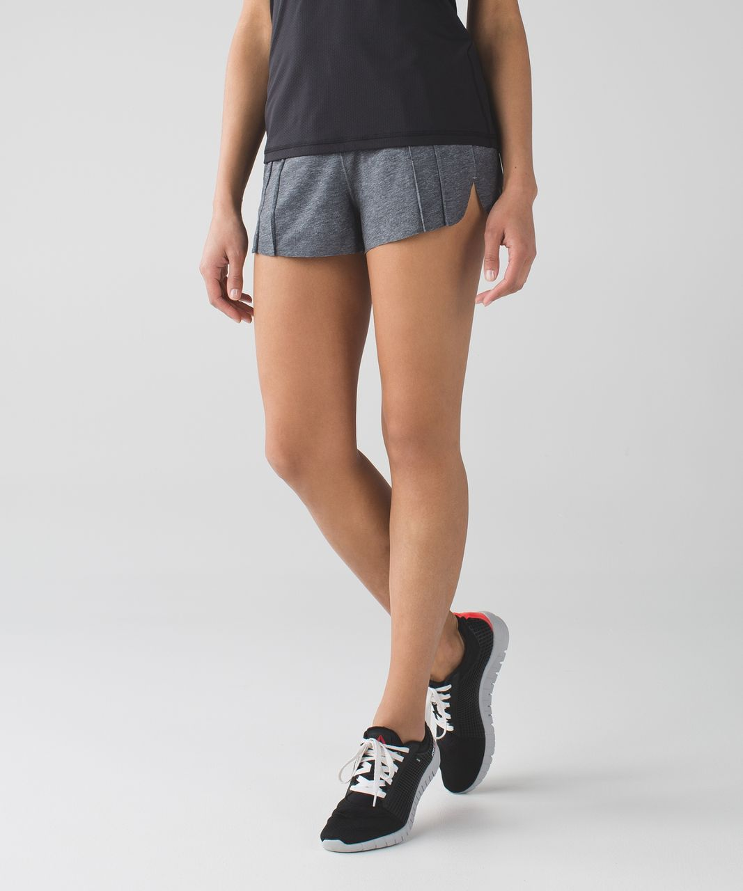 Lululemon &go Endeavor Short - Heathered Texture Printed Greyt Deep Coal