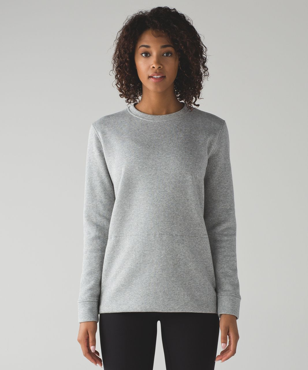 Lululemon Yes Fleece Pullover - Heathered Medium Grey - lulu fanatics