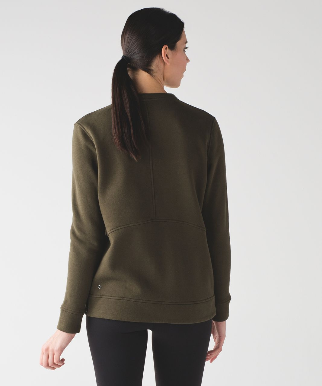 Lululemon Yes Fleece Pullover - Military Green - lulu fanatics