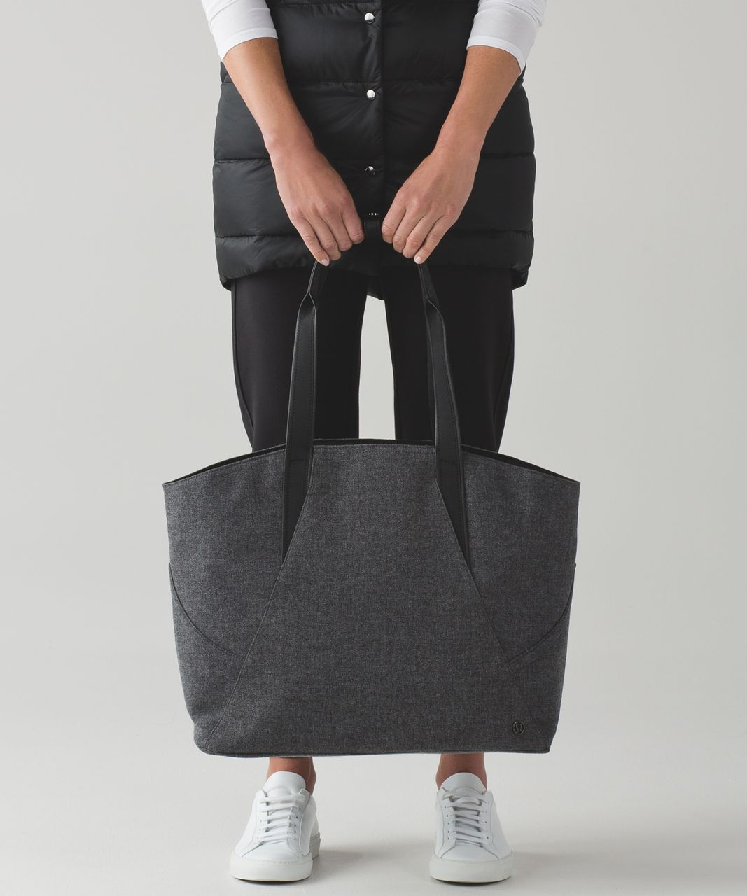 67539229d0 Lululemon All Day Tote - Heathered Dark Grey / Black - lulu fanatics
