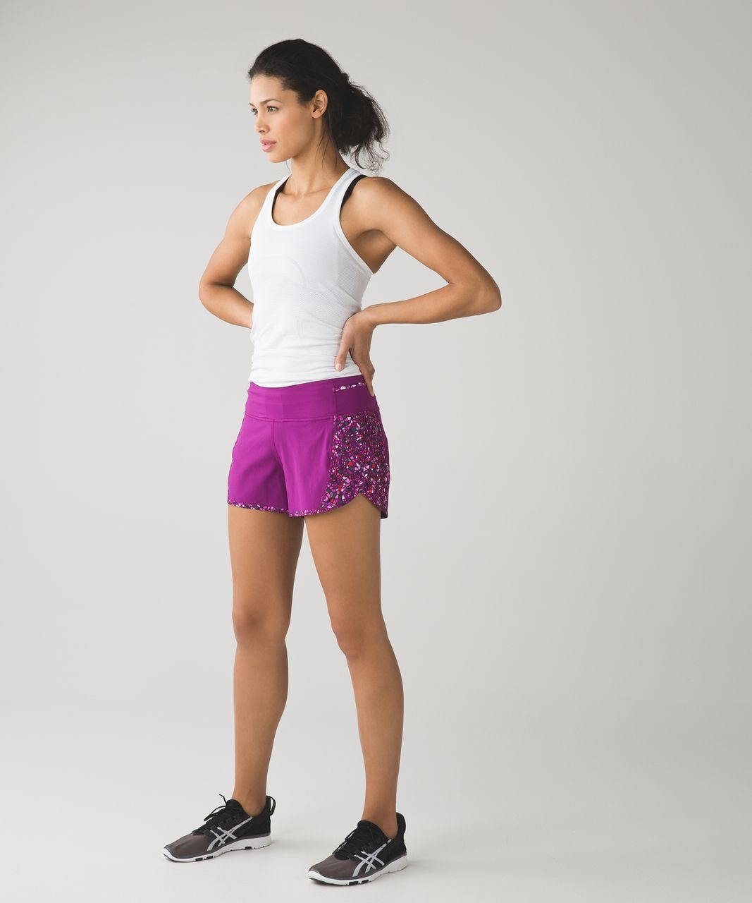 Lululemon Real Quick Short - Regal Plum / Paradise Camo Multi