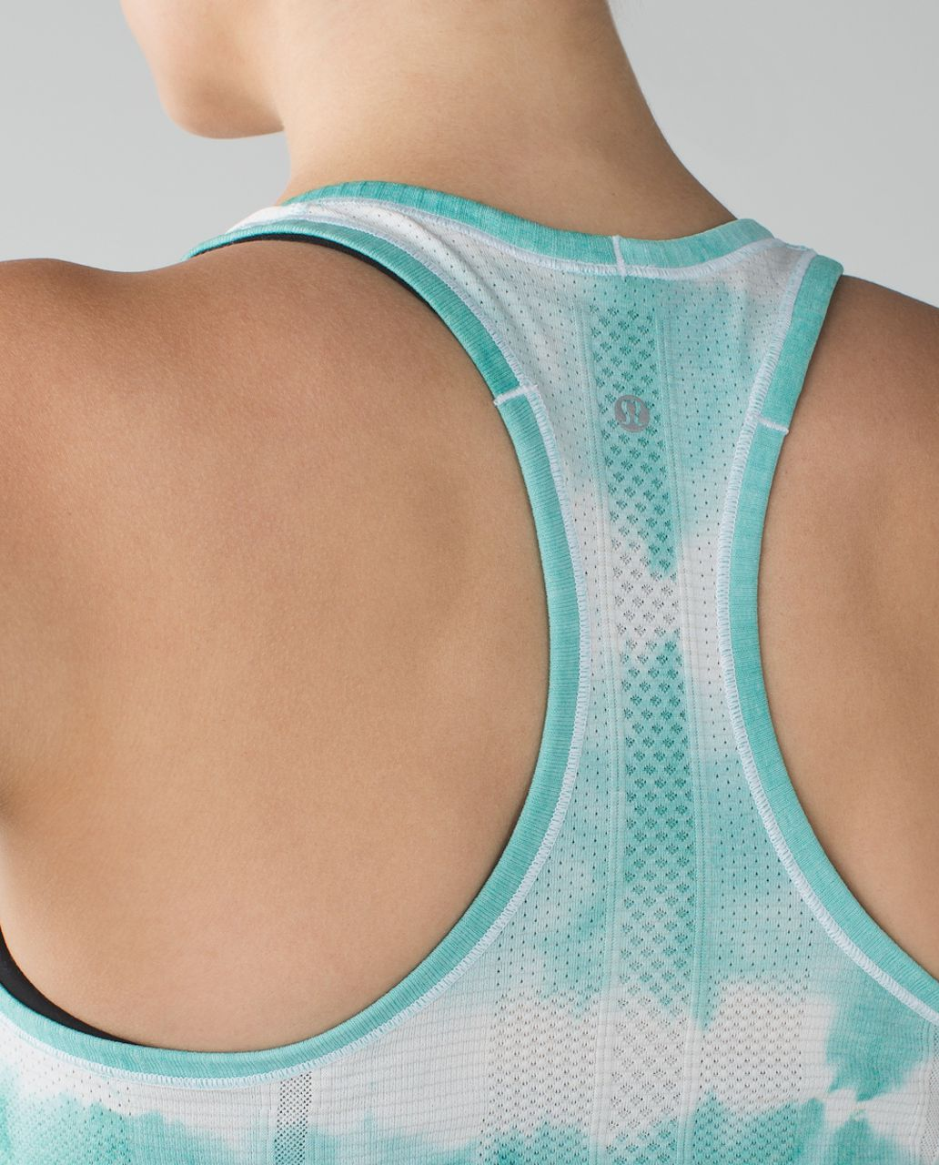 Lululemon Swiftly Tech Racerback - Heathered Tranquil Blue