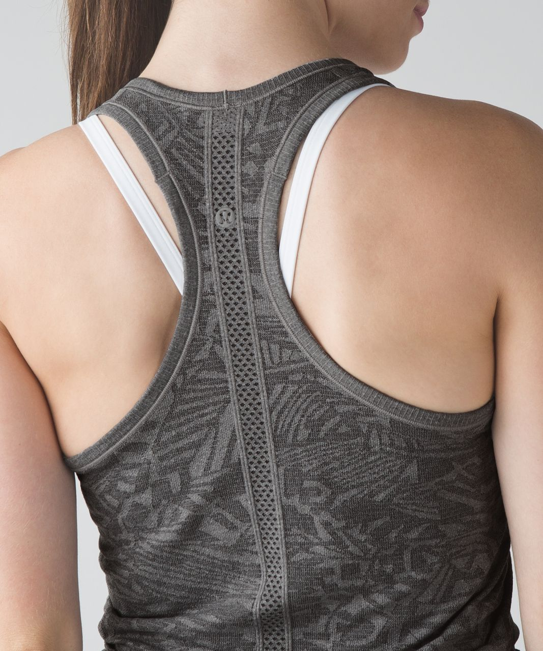 Lululemon Swiftly Tech Racerback - Heathered Soot Light