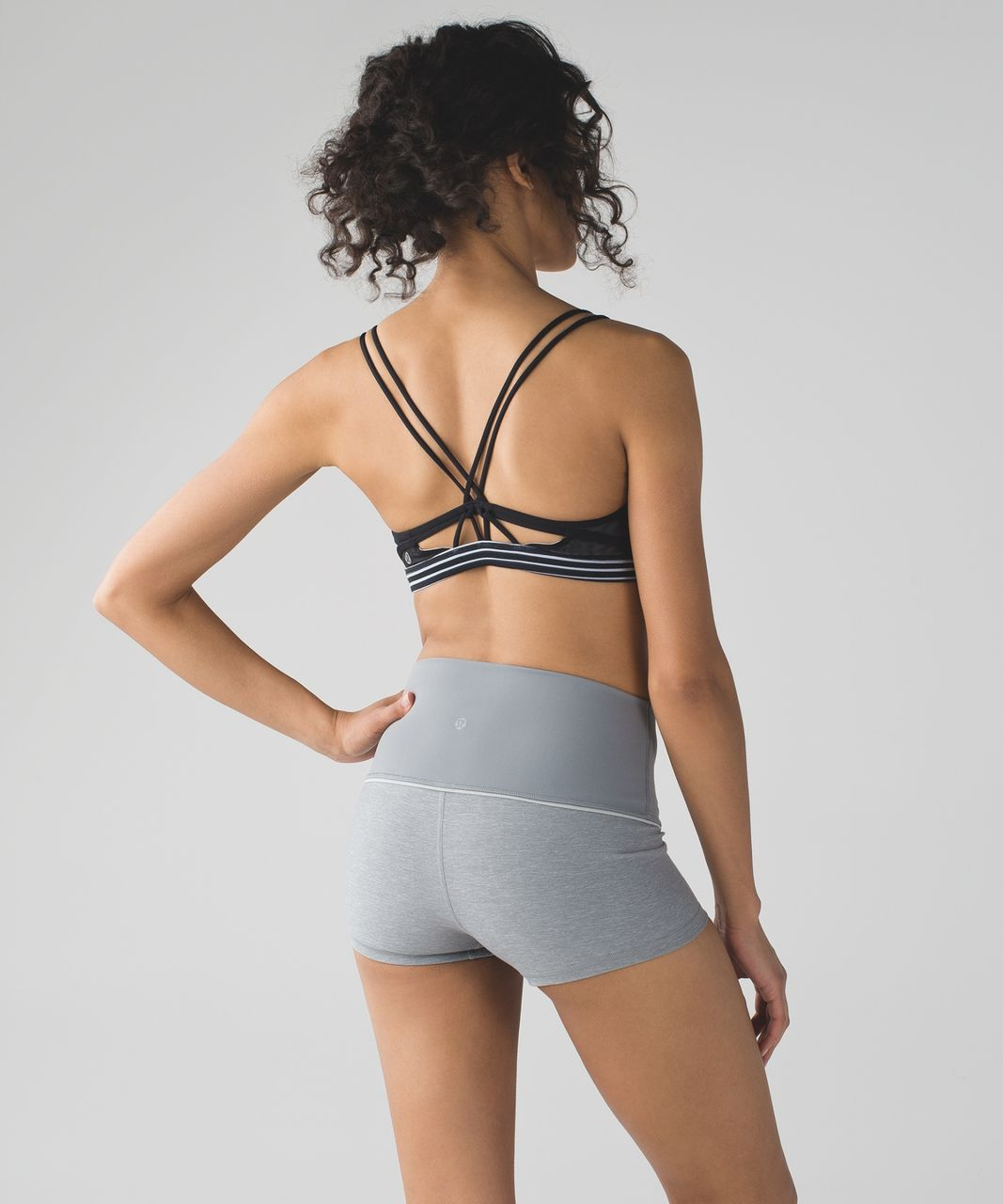 Lululemon Boogie Short (Roll Down) - Heathered Battleship / Battleship / Heathered Seal Grey