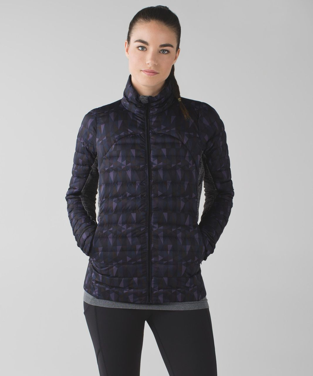 Lululemon Fluff Off Jacket - Stained Glass Love Nightfall Black