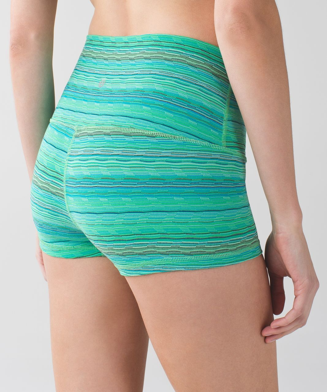 Lululemon Boogie Short (Roll Down) - Space Dye Twist 6 Colour Dragonfly Naval Blue