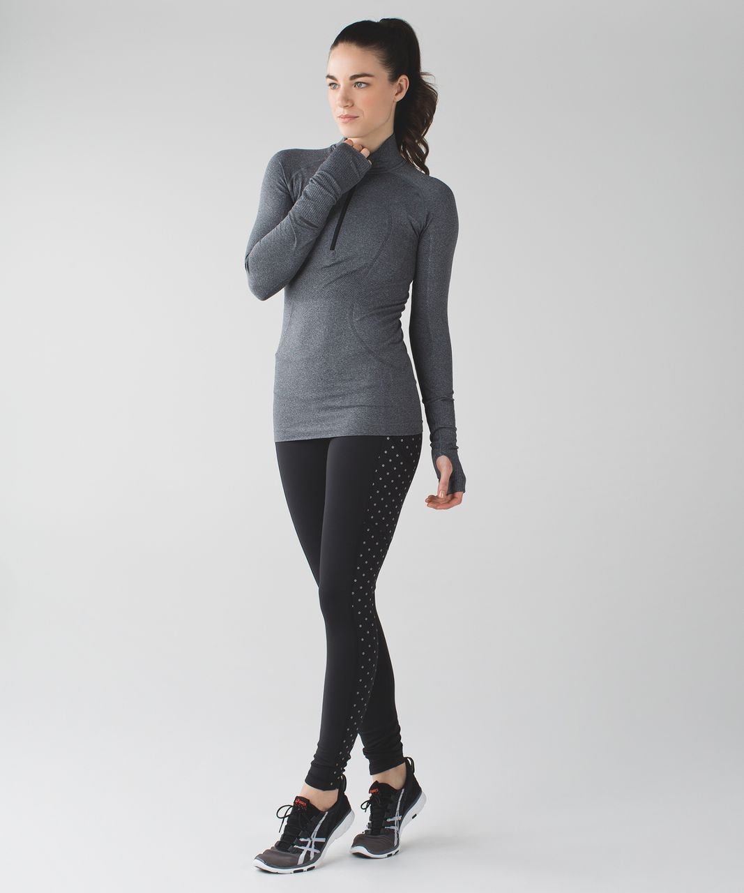 Lululemon Speed Tight IV (Brushed) - Black / Sequin Dot Black Silver