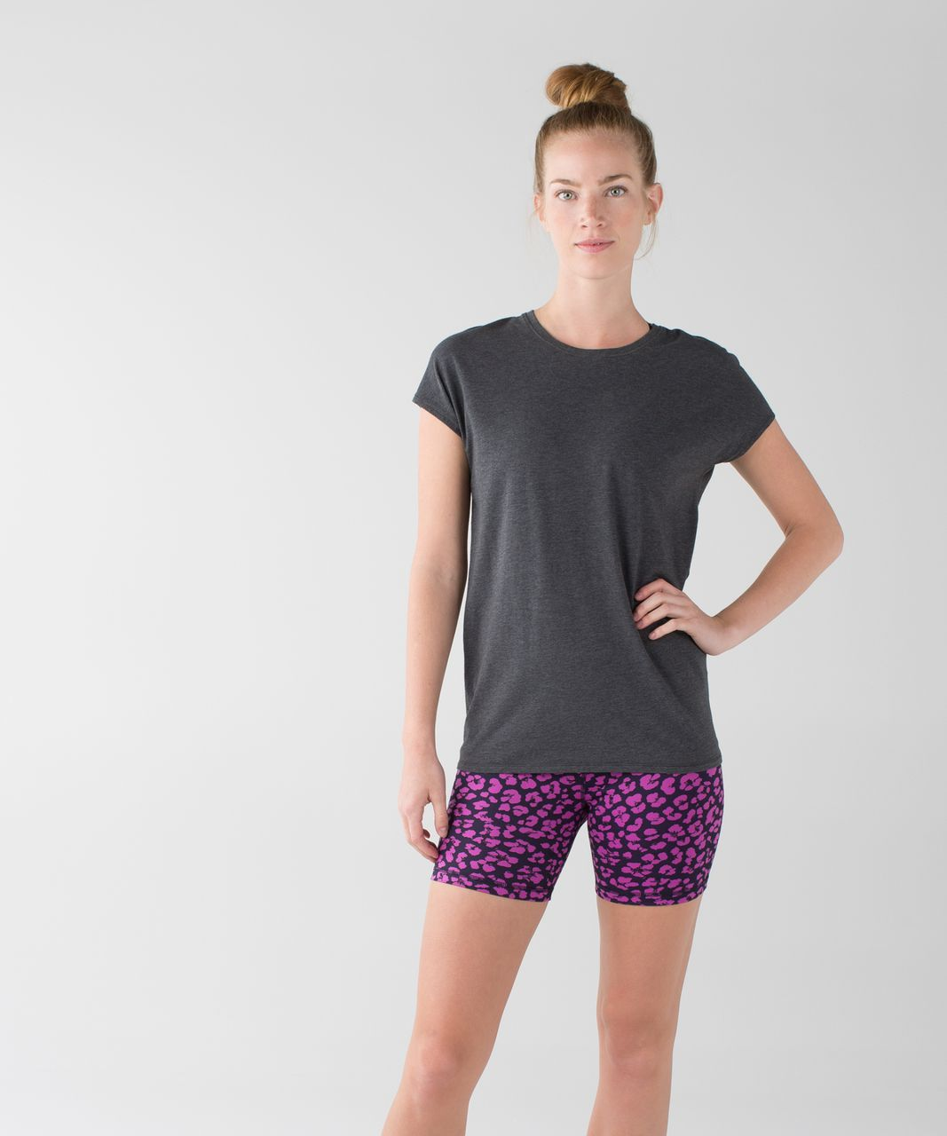 Lululemon Groove Short II (Regular) - Mini Cherry Cheetah Ultra Violet Naval Blue