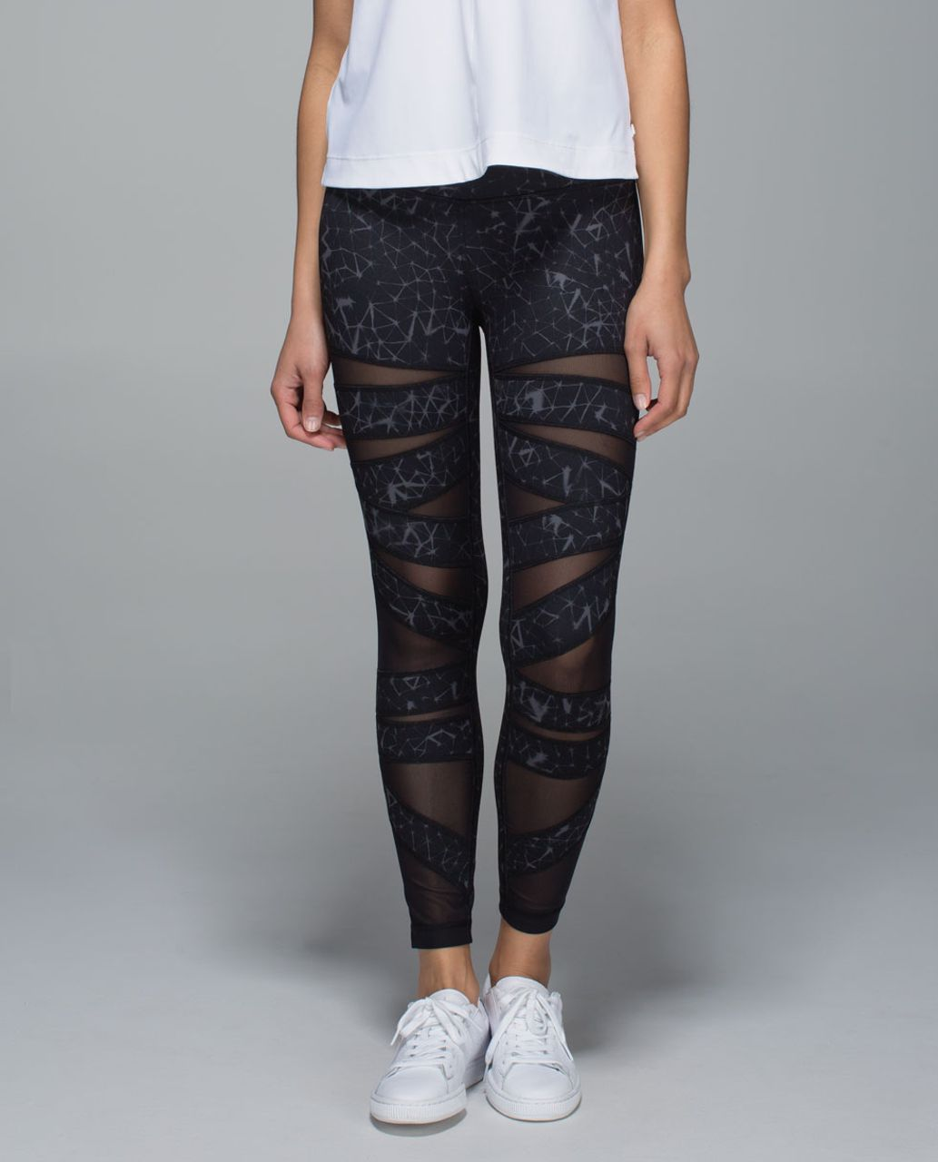 ad2726dfc Lululemon High Times Pant  Full-On Luon (Mesh) - Star Crushed Coal Black    Black - lulu fanatics