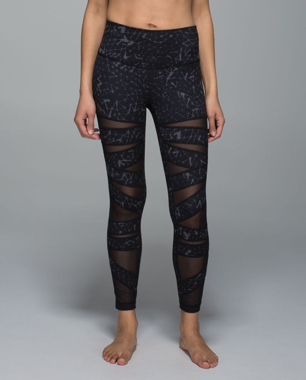 489975456323ee Lululemon High Times Pant *Full-On Luon (Mesh) - Star Crushed Coal Black /  Black - lulu fanatics