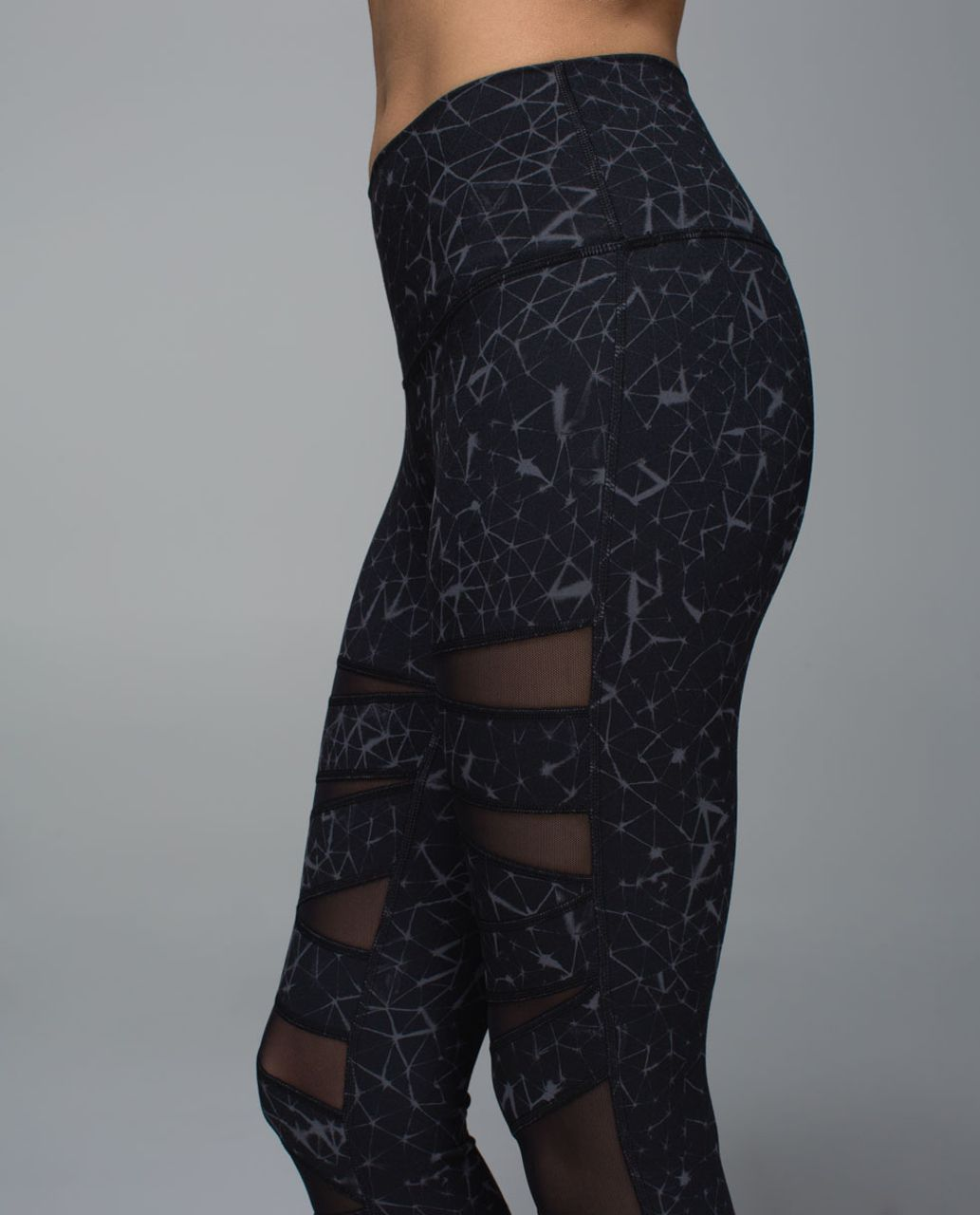 Lululemon High Times Pant *Full-On Luon (Mesh) - Star Crushed Coal Black / Black