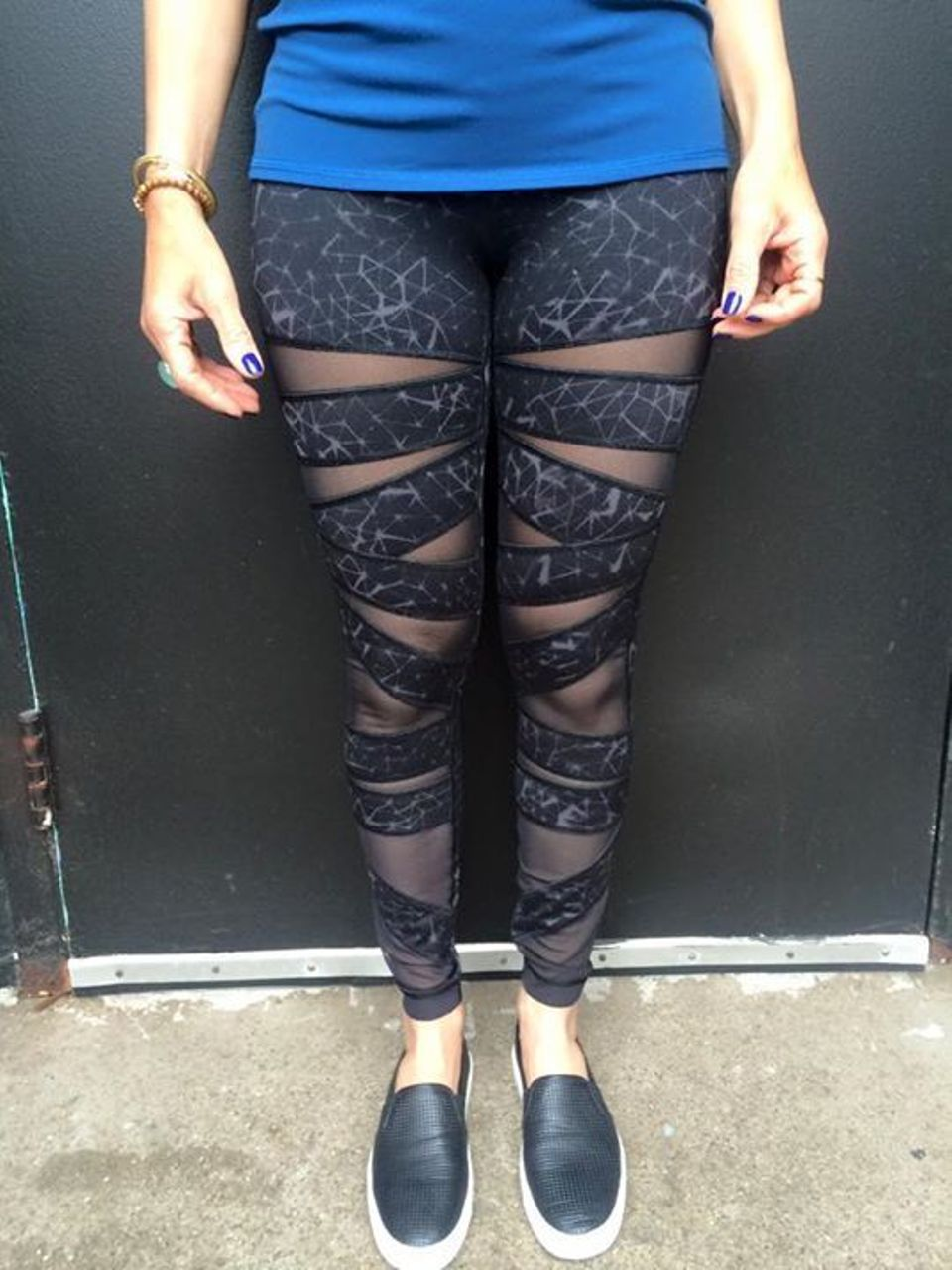 Lululemon High Times Pant *Full-On Luon (Mesh) - Star Crushed Coal Black / Black