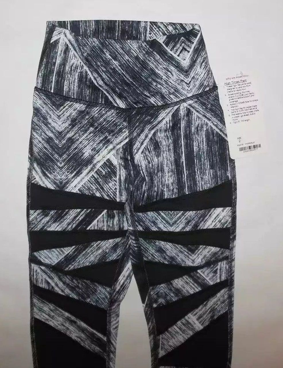 Lululemon High Times Pant - Heat Wave White Black / Black