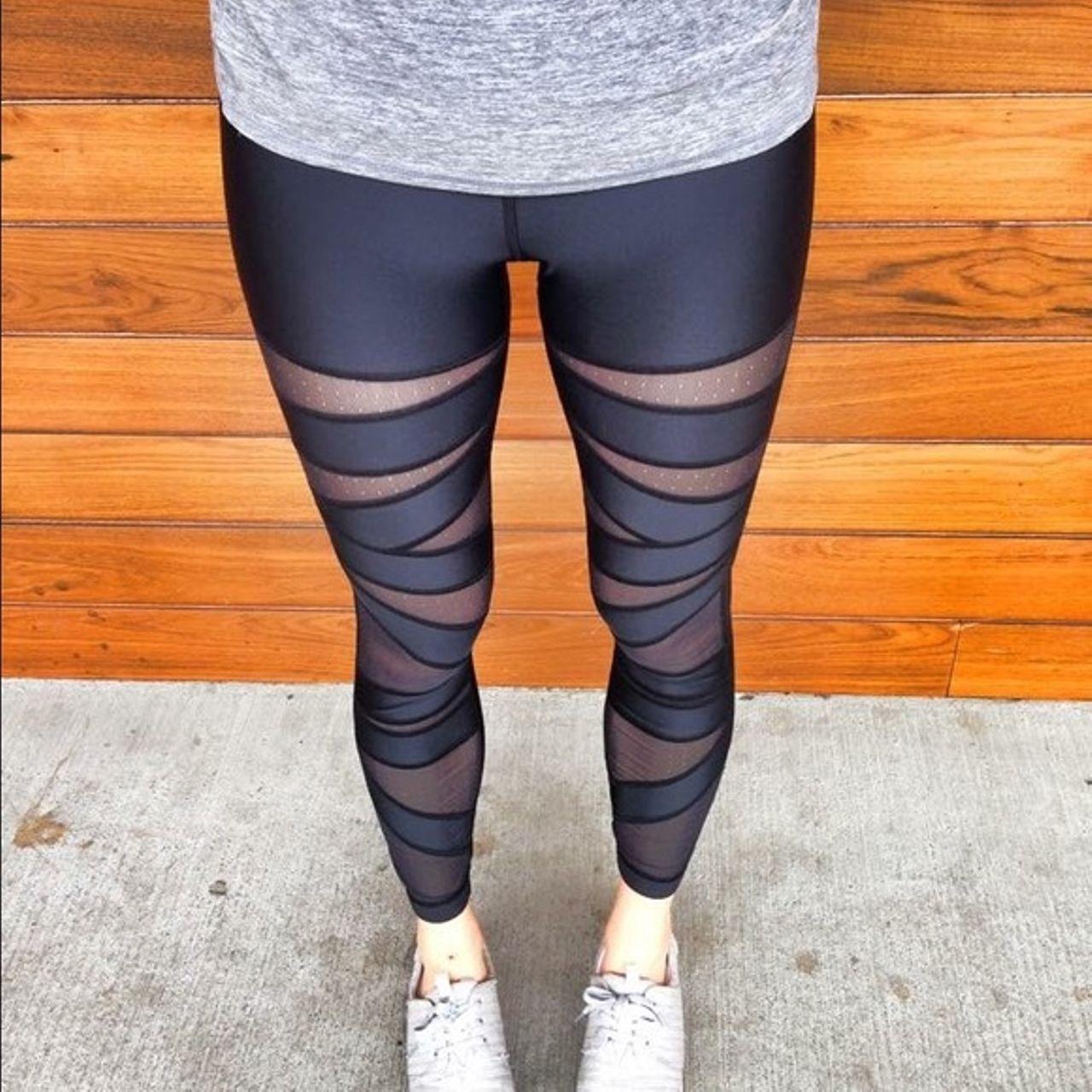 Lululemon High Times Pant - Shine - Black / Black