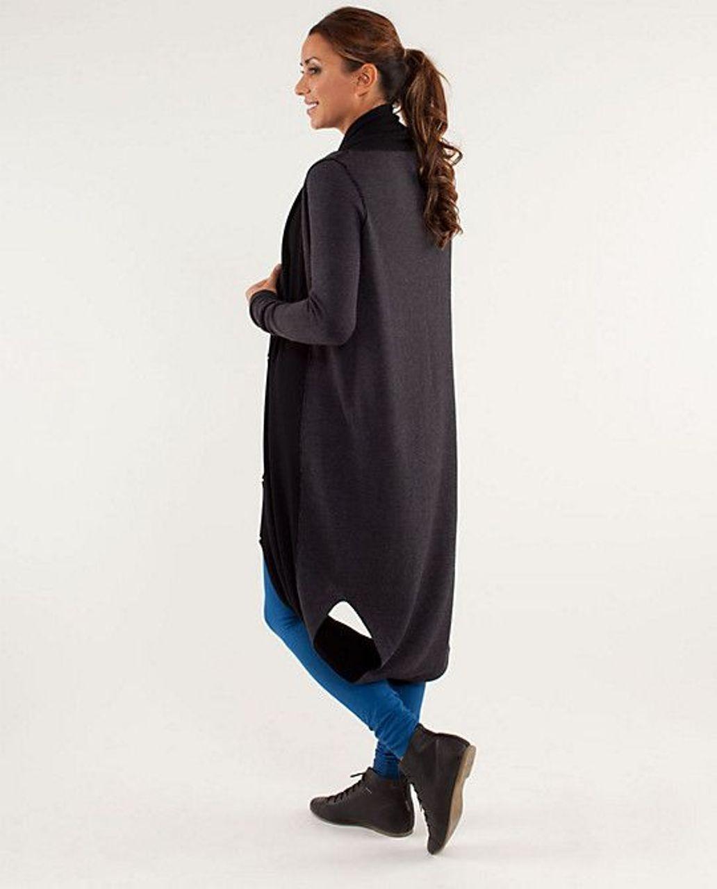 Lululemon Intuition Sweater Wrap - Black / Slope Stripe Black Coal