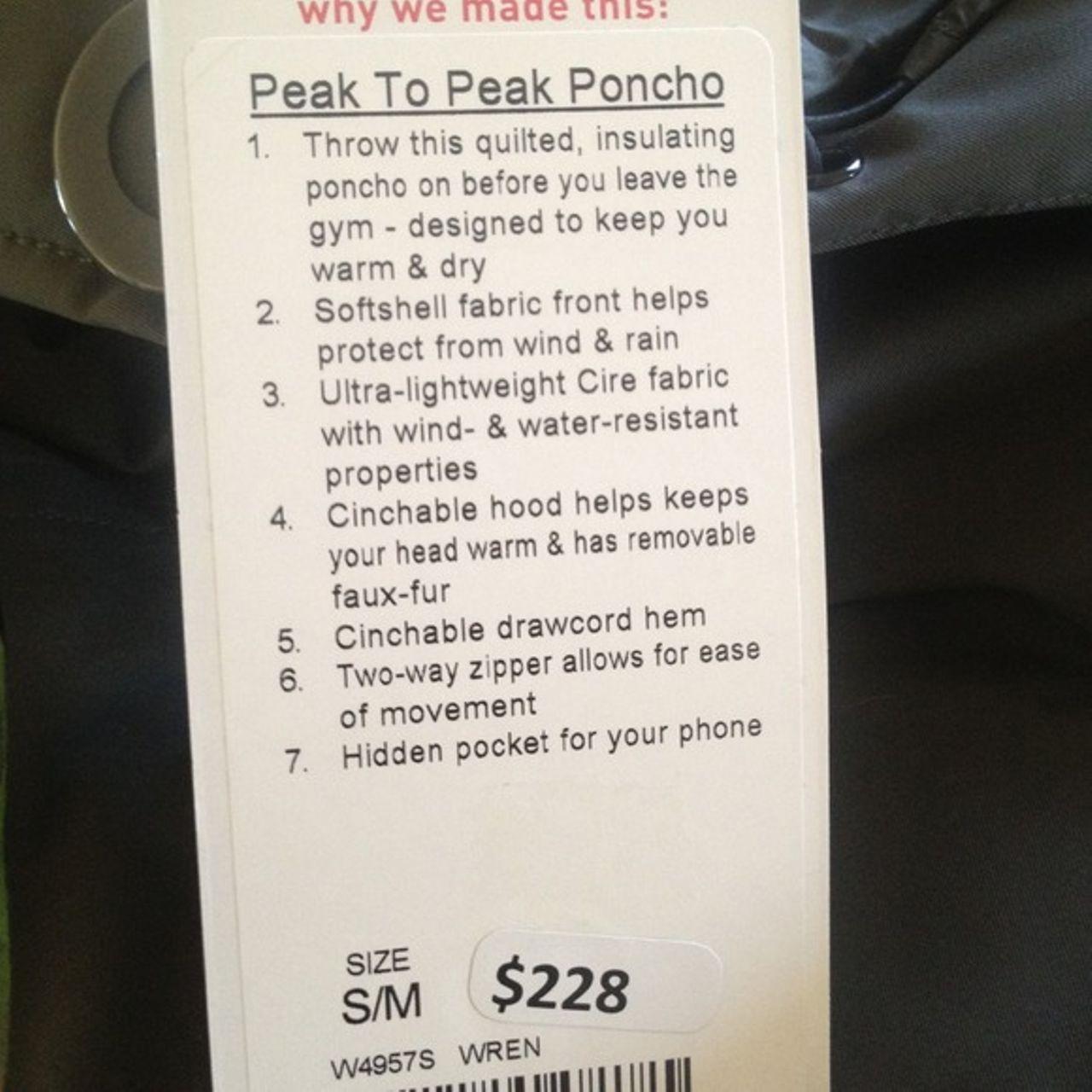 Lululemon Peak To Peak Poncho - Wren