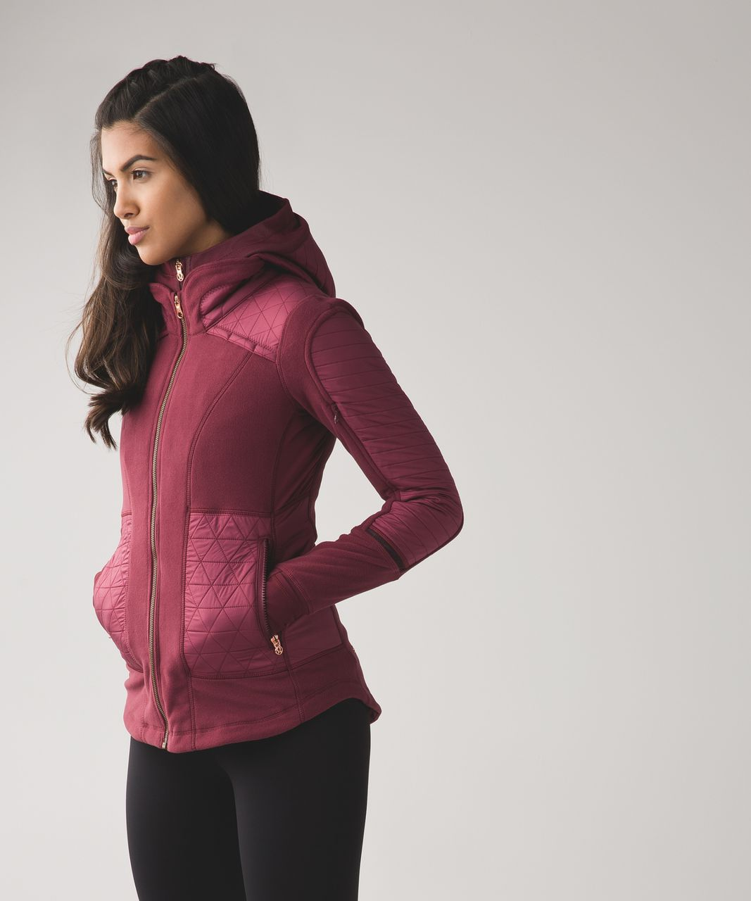 Lululemon Fleecy Keen Jacket III - Wine Berry