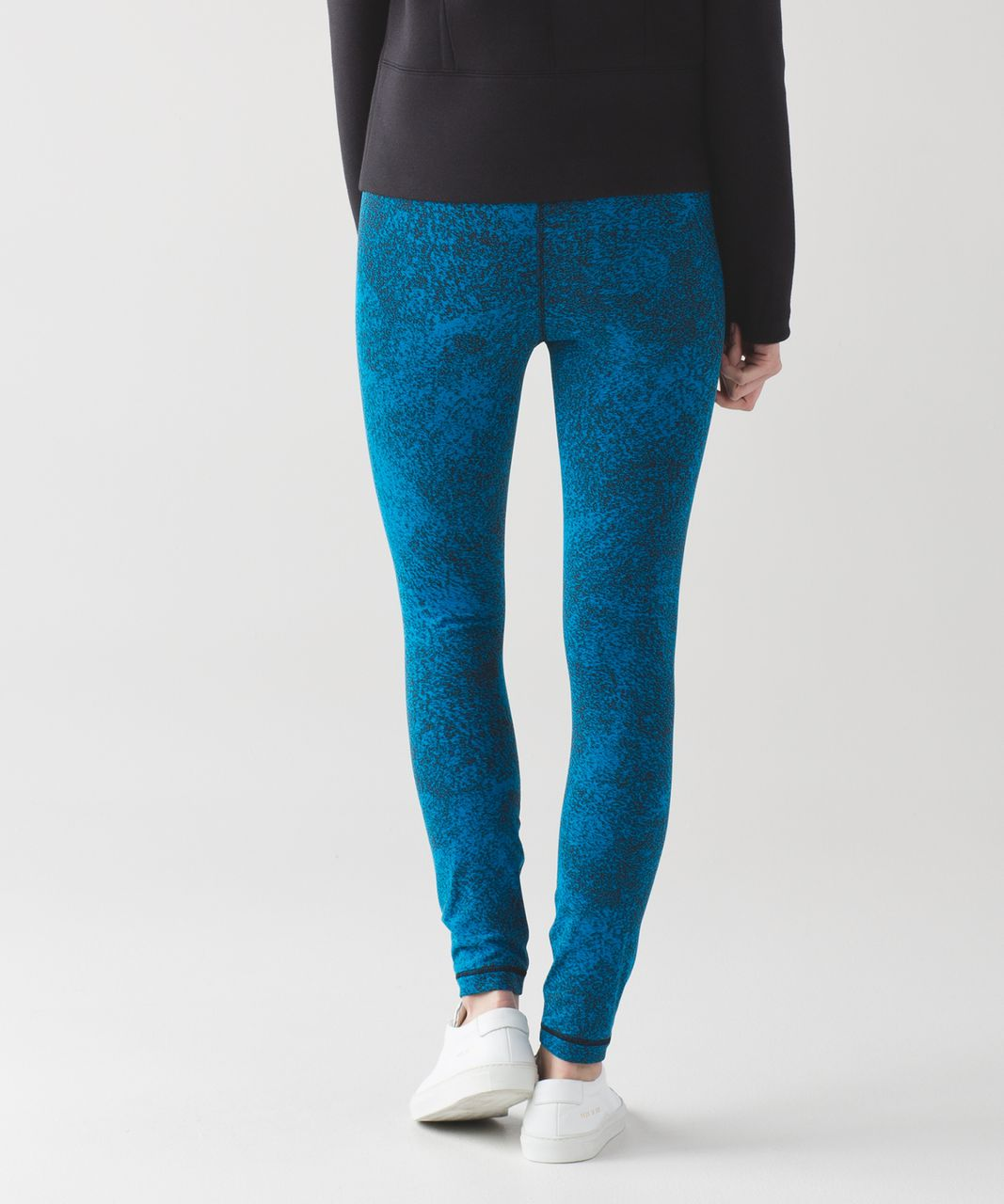 Lululemon High Times Pant - Luon Spray Jacquard Shocking Blue Black