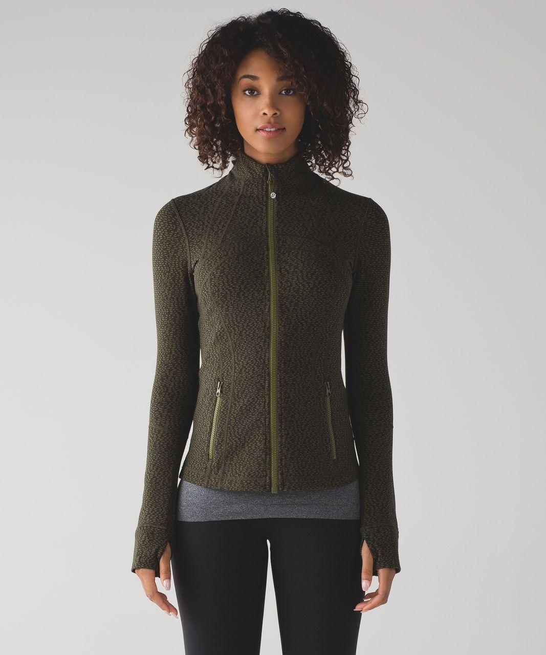Lululemon Define Jacket - Black / Brave Olive / Dark Olive