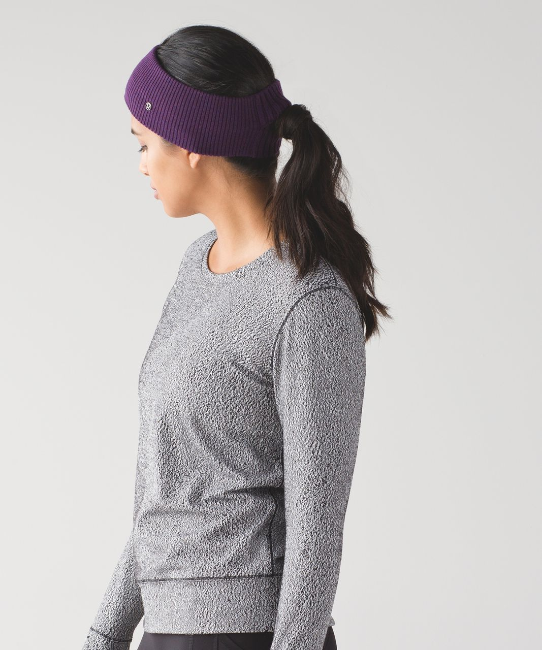 Lululemon Runderland Ear Warmer - Heathered Darkest Magenta