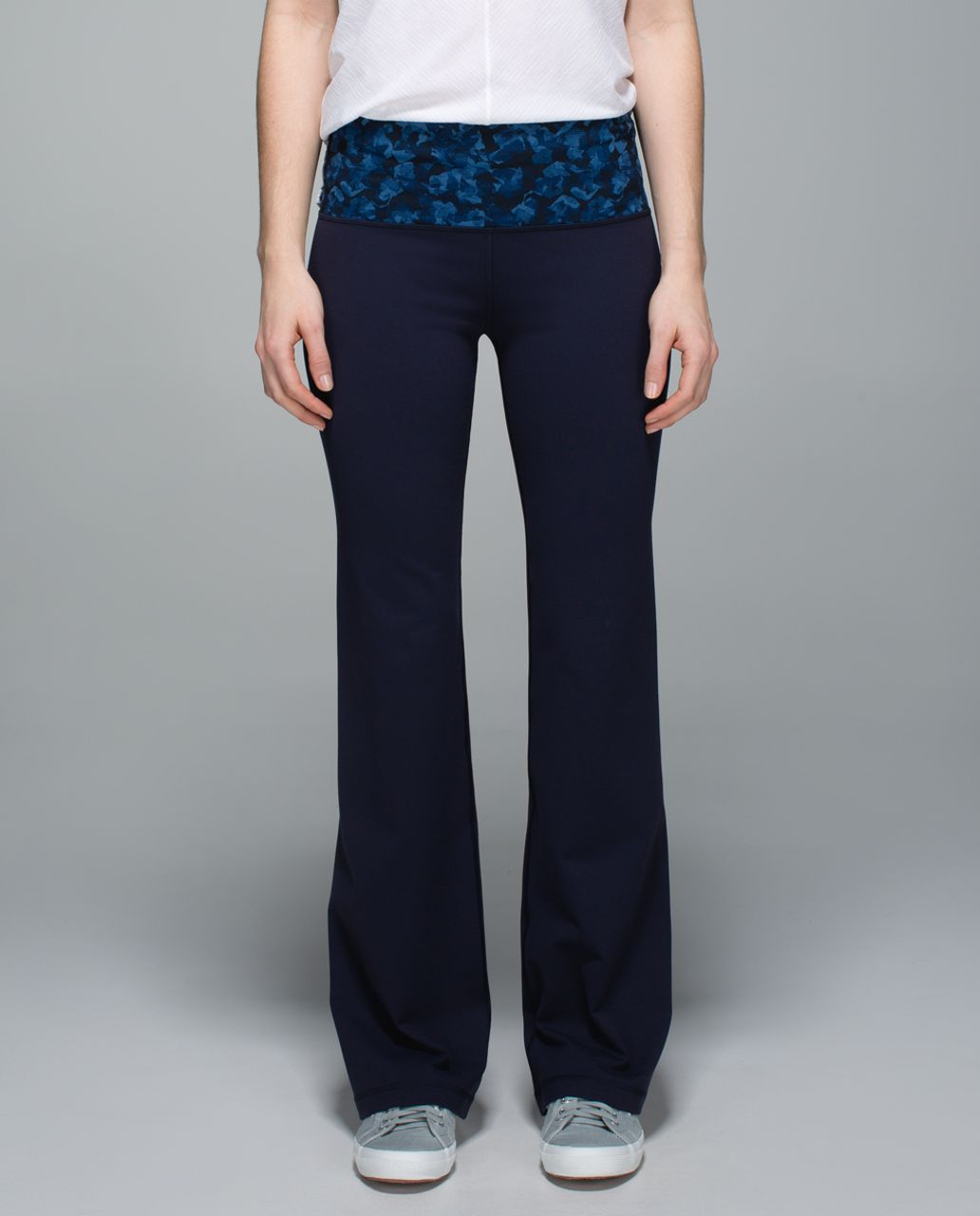 Lululemon Groove Pant II (Roll Down - Tall) - Naval Blue / Mystic Jungle Hawk Blue Harbor Blue