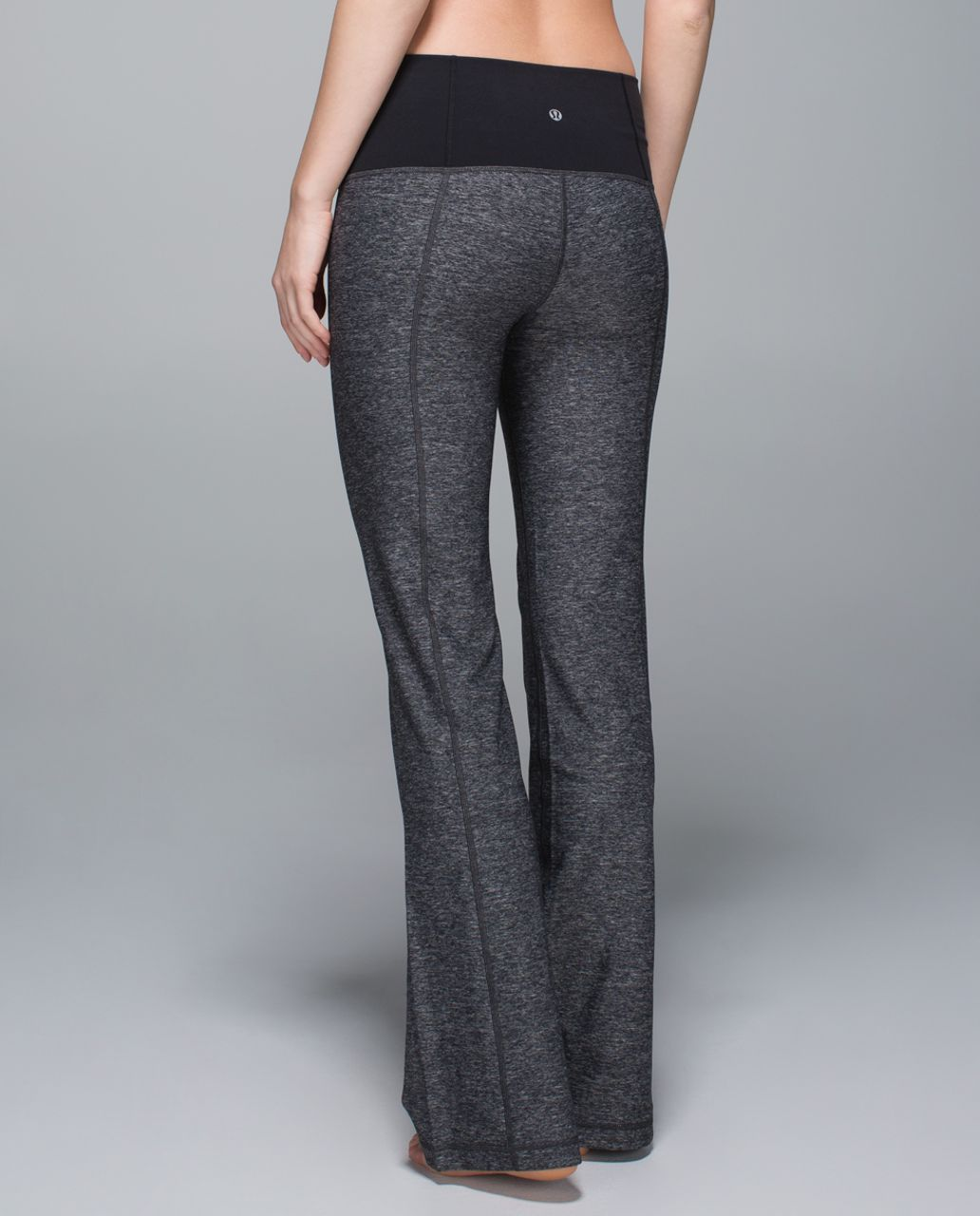 Lululemon Groove Pant II (Roll Down - Tall) - Heathered Black / Black