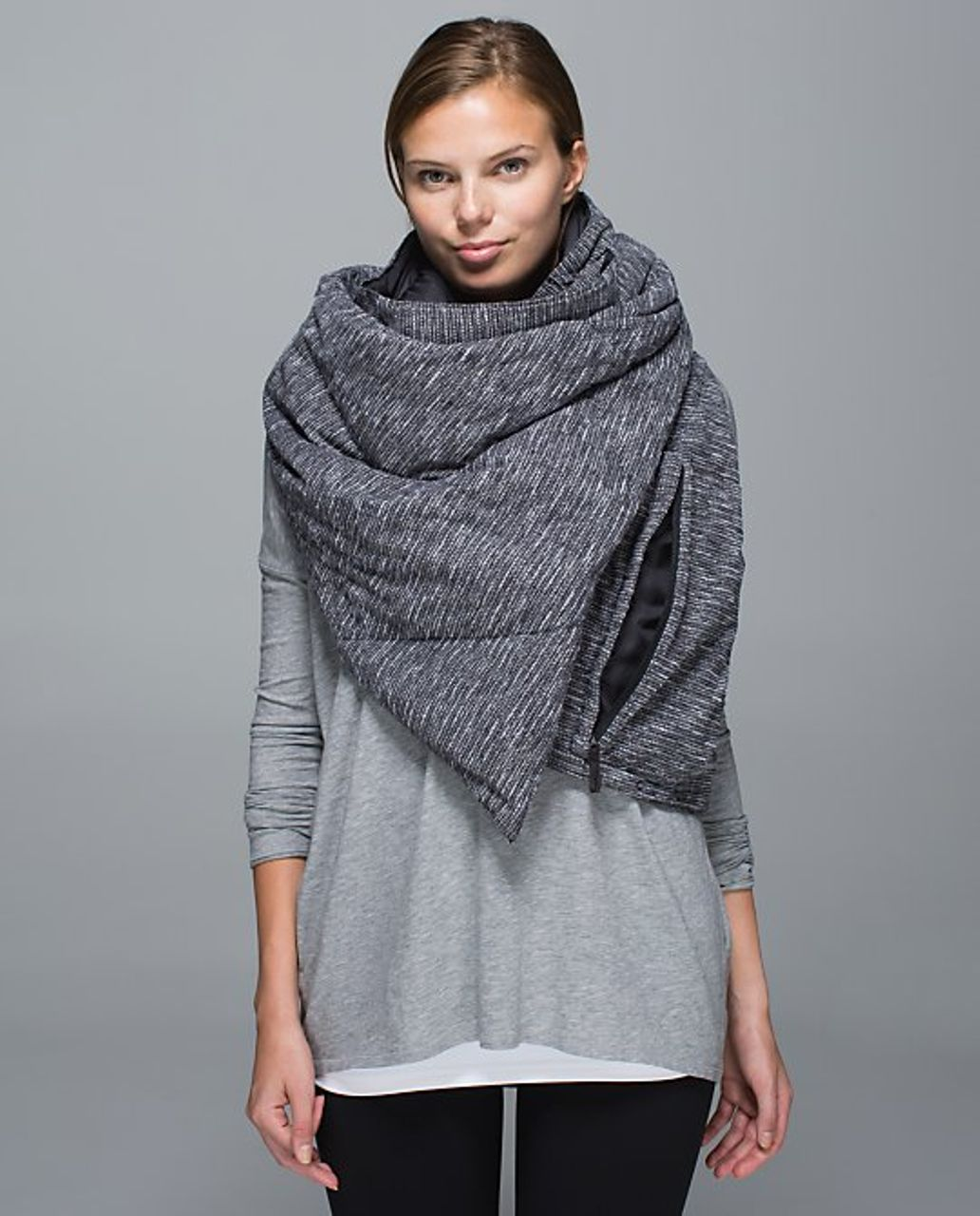 Lululemon Fluffed Up Scarf - Coco Pique Black