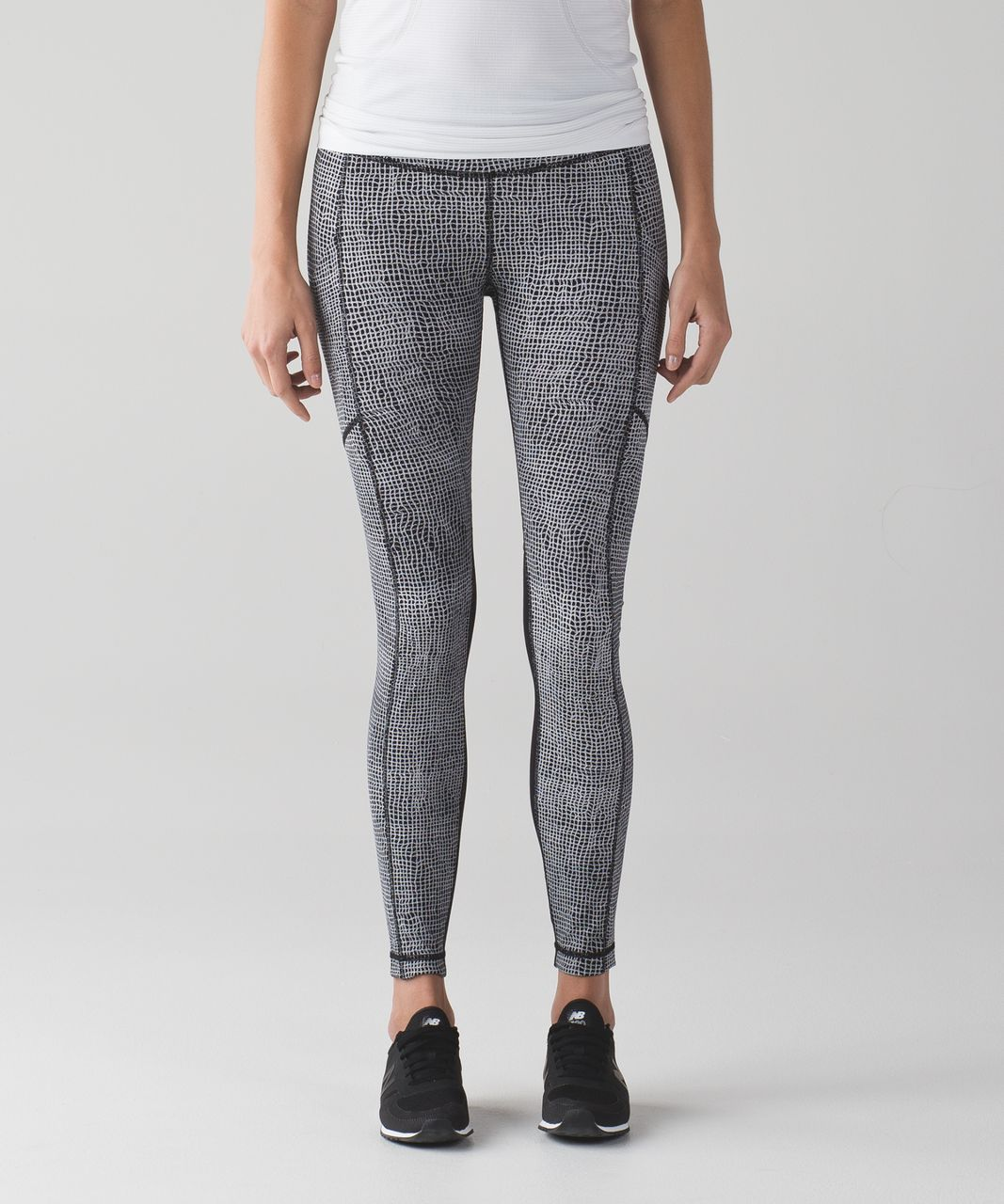 Lululemon Speed Tight V - Fall Net White Black / Black