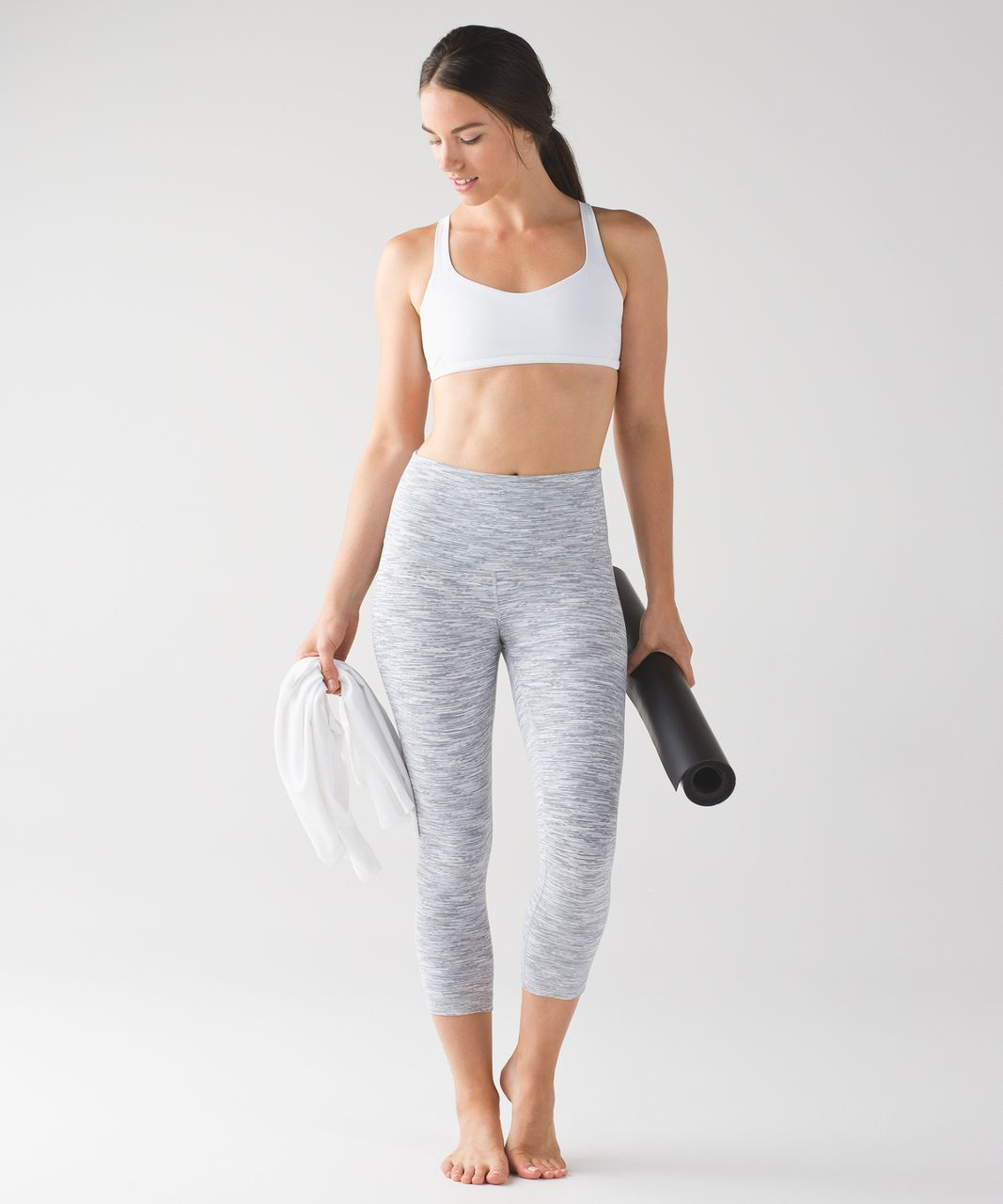 "Lululemon Wunder Under Crop (Hi-Rise) (21 1/2"") - Wee Are From Space Ice Grey Alpine White"
