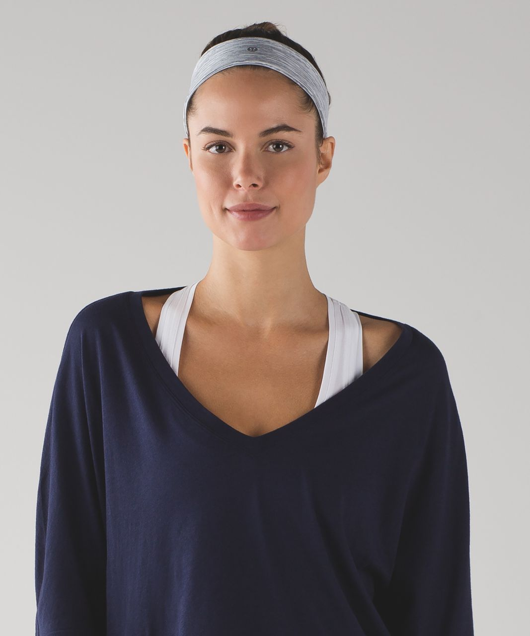 Lululemon Fly Away Tamer Headband II - Wee Are From Space Ice Grey Alpine White
