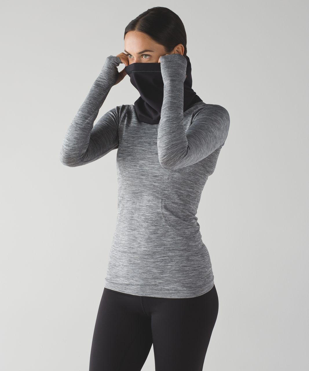 Lululemon Run Fast Neck Warmer - Black - lulu fanatics