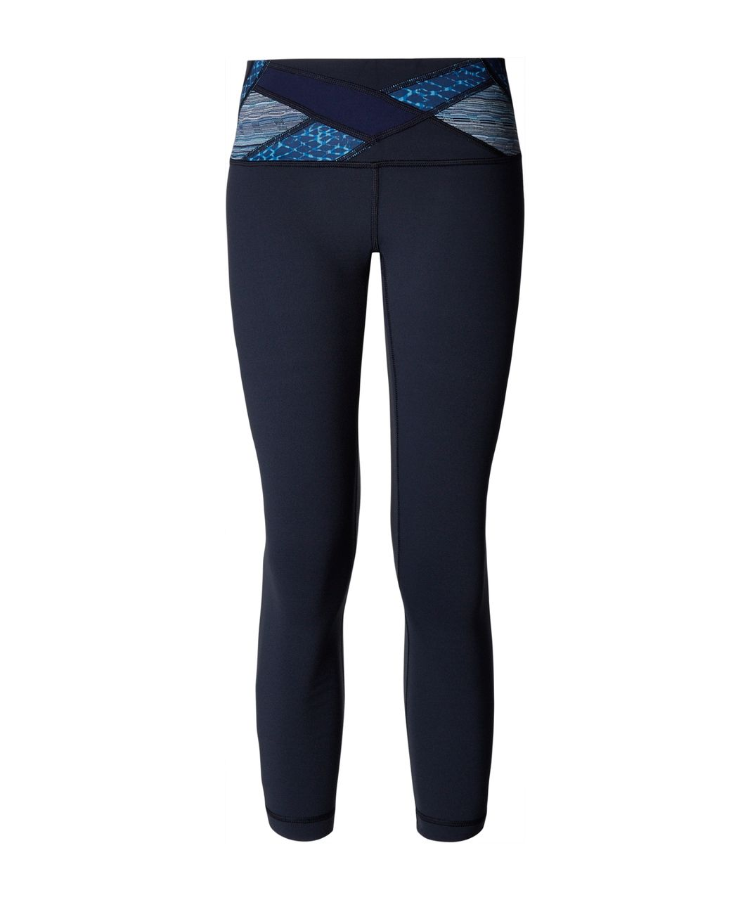 Lululemon Wunder Under Crop III - Inkwell / Hero Blue / Samba Snake Kayak Blue Hero Blue