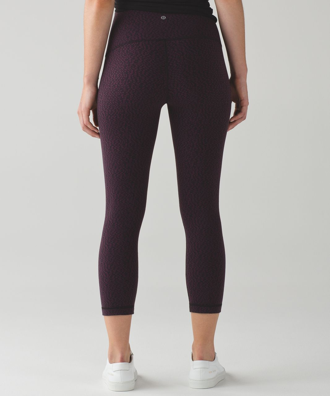 "Lululemon Wunder Under Crop (Hi-Rise) *21"" - Digi Pixie Black Plum"