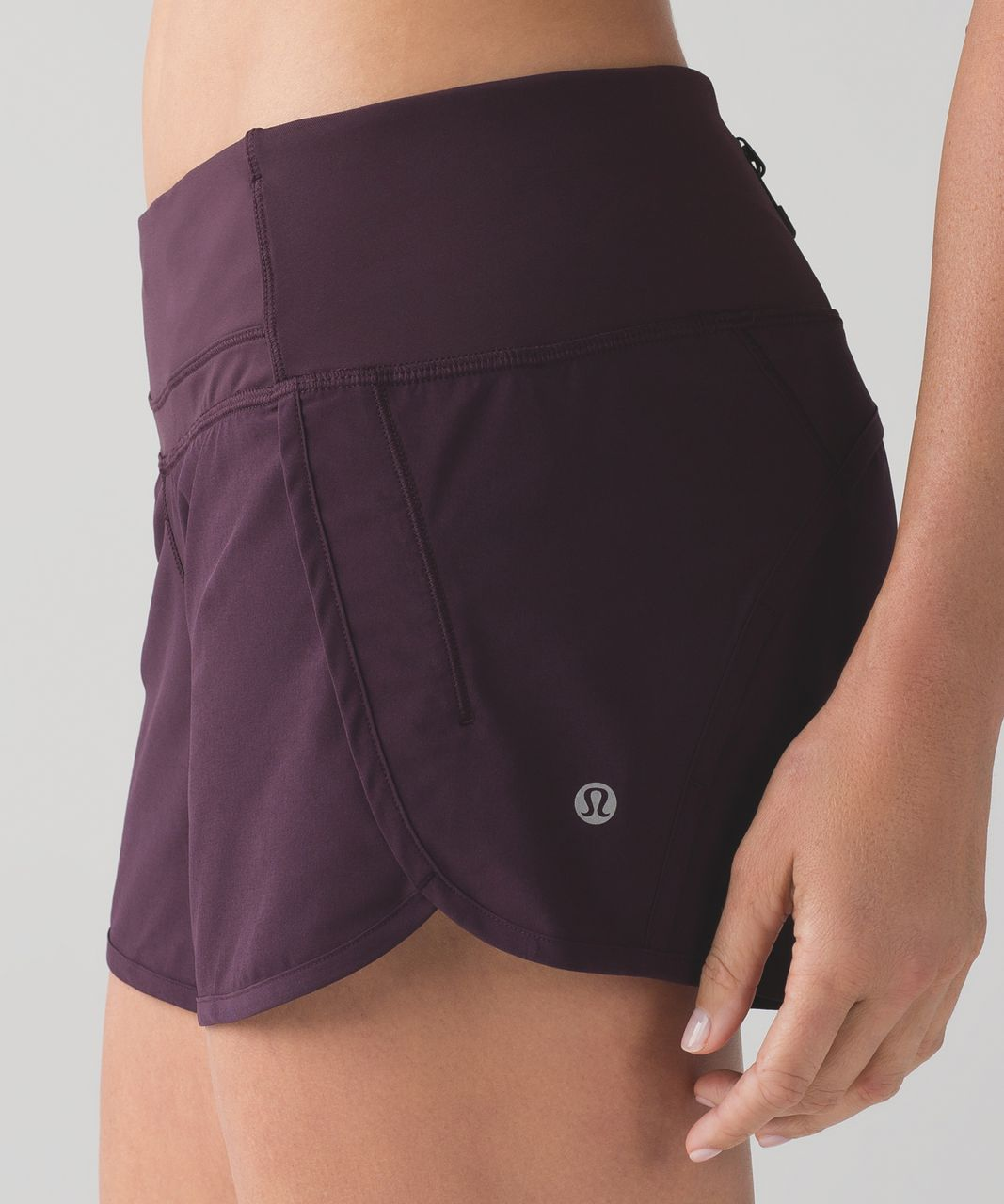 "Lululemon Run Times Short (4-way Stretch 4"") - Black Cherry"