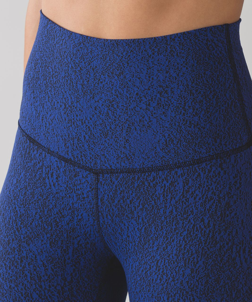 Lululemon Wunder Under Pant (Hi-Rise) - Power Luxtreme Spray Jacquard Sapphire Blue Black