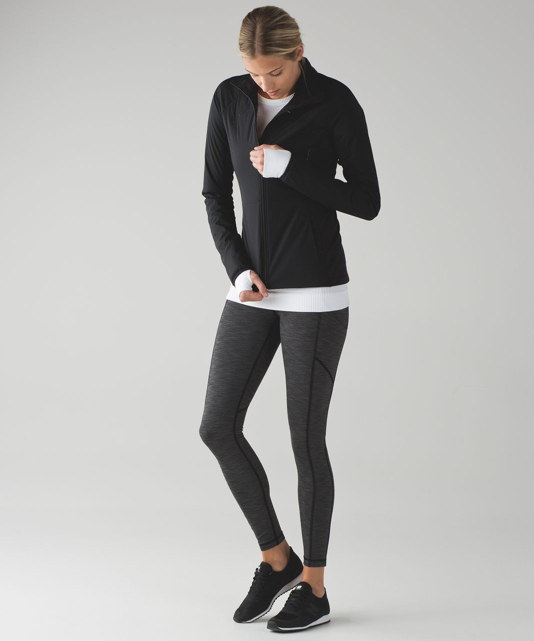 Lululemon Speed Tight V (Brushed) - Heathered Black
