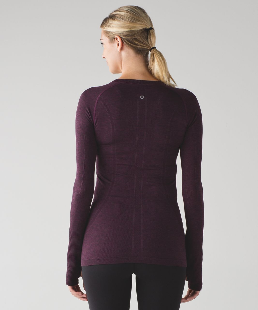 Lululemon Swiftly Tech Long Sleeve Crew Plum Black