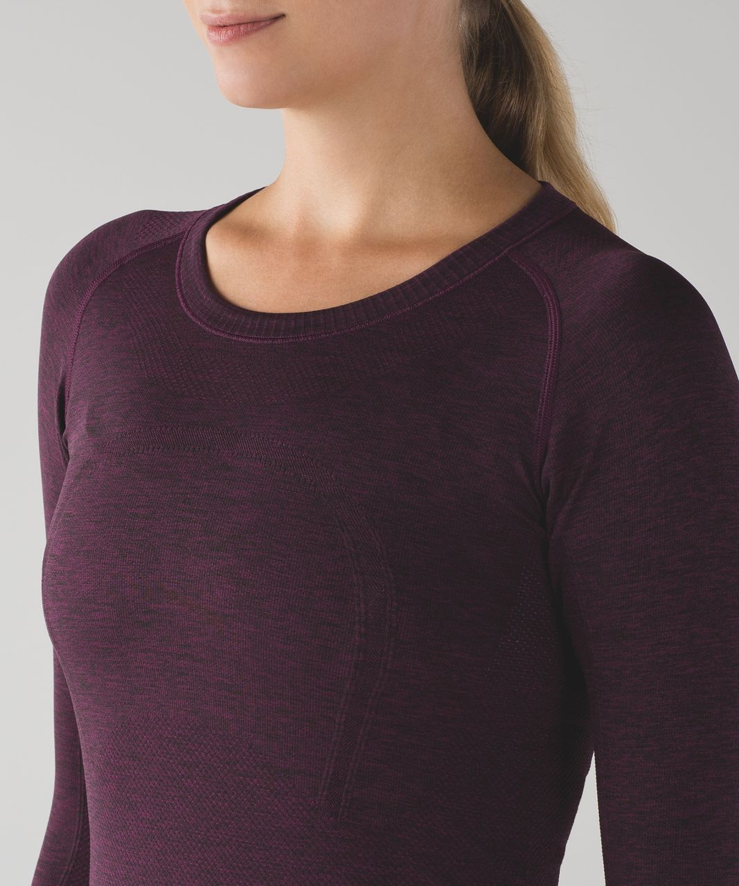 Lululemon Swiftly Tech Long Sleeve Crew - Plum / Black