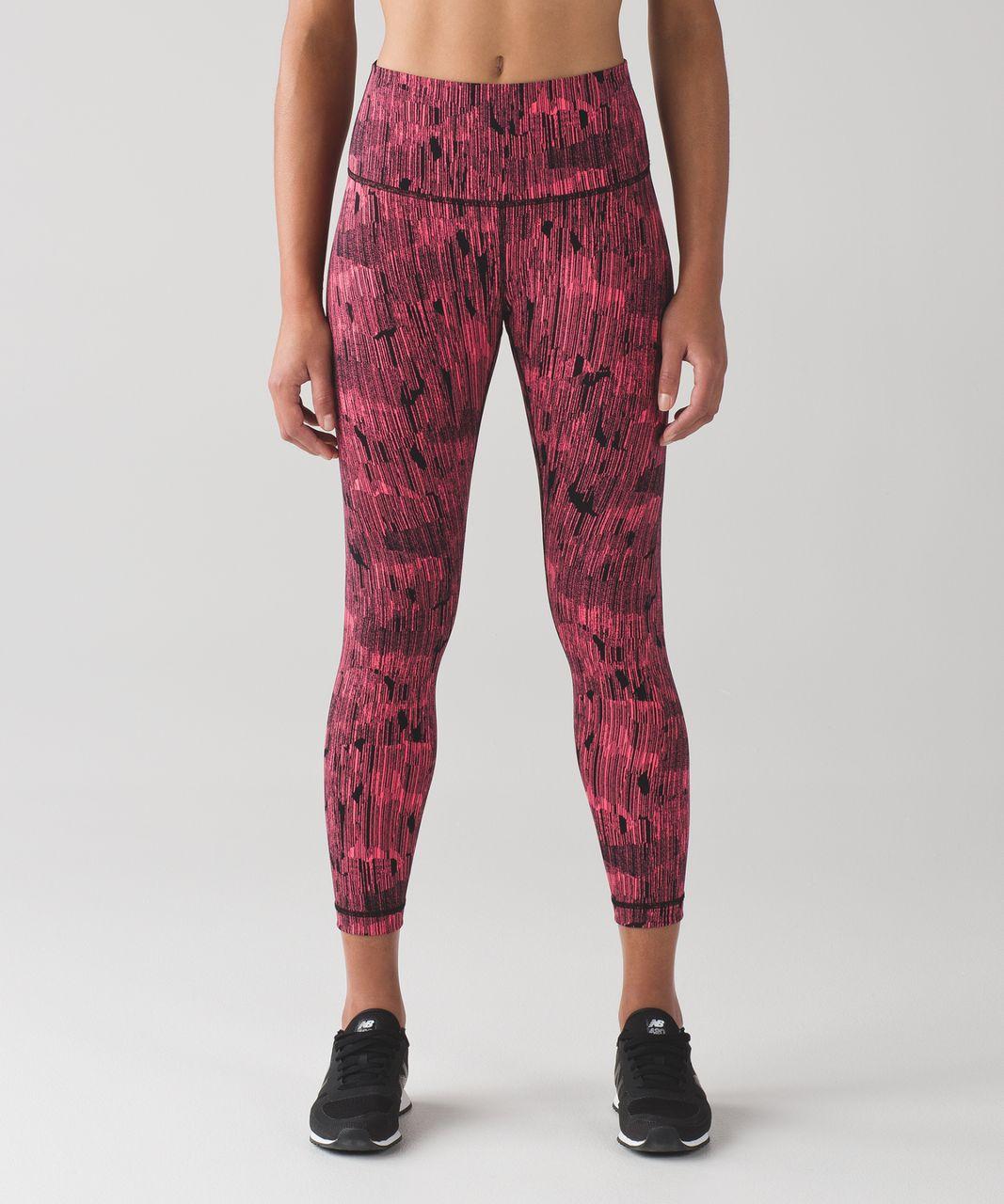 Lululemon High Times Pant - Down Pour Electric Coral Black