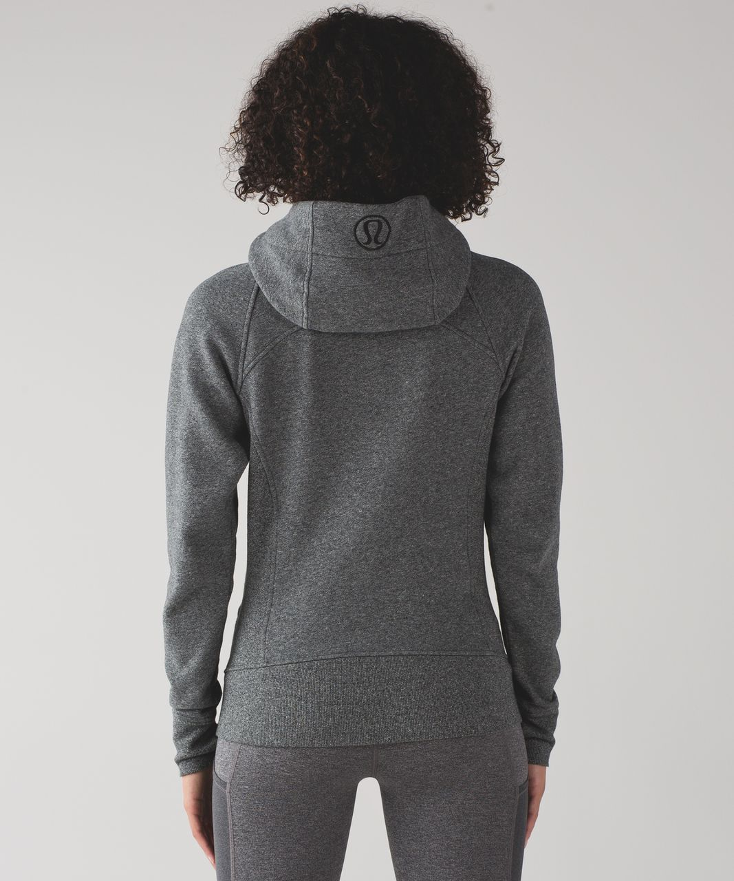 Lululemon Scuba Hoodie *Light Cotton Fleece - Heathered Speckled Black (First Release)