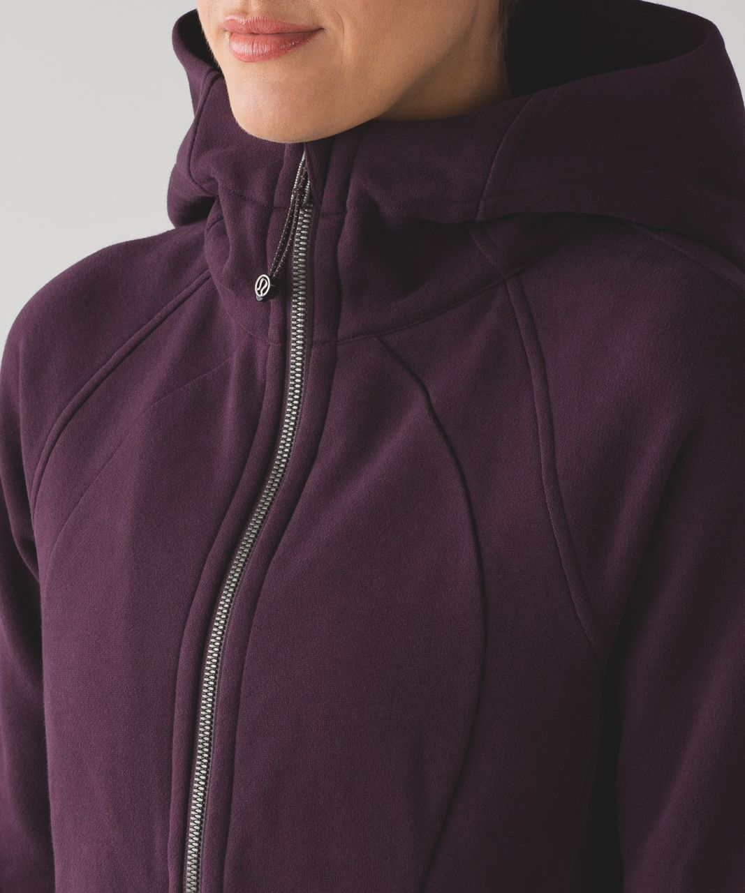 Lululemon Scuba Hoodie *Light Cotton Fleece - Black Cherry