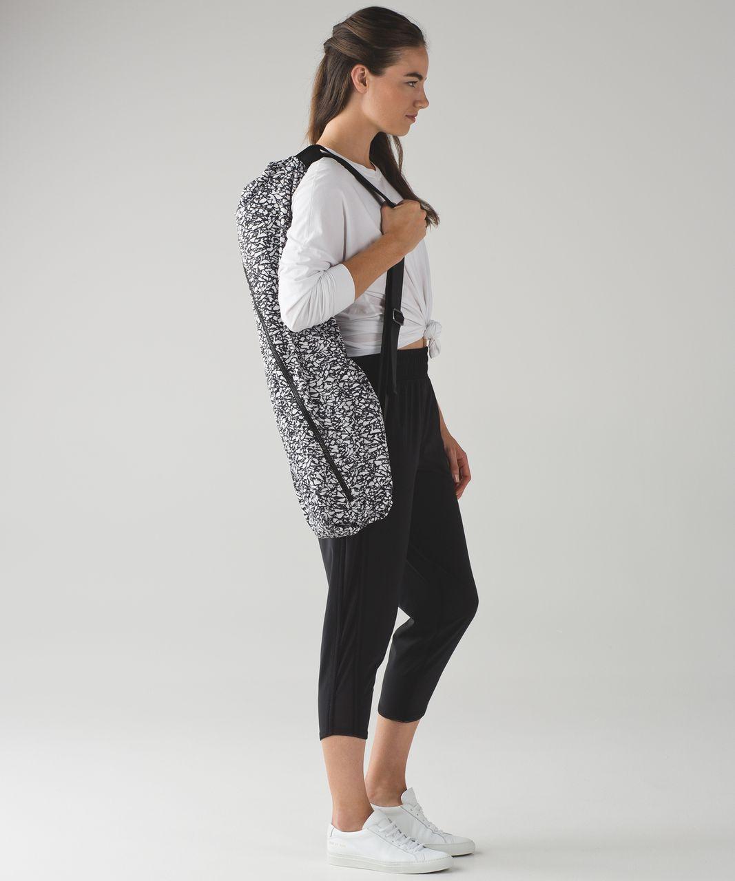 Lululemon The Yoga Bag 14l Ice Breaker White Black