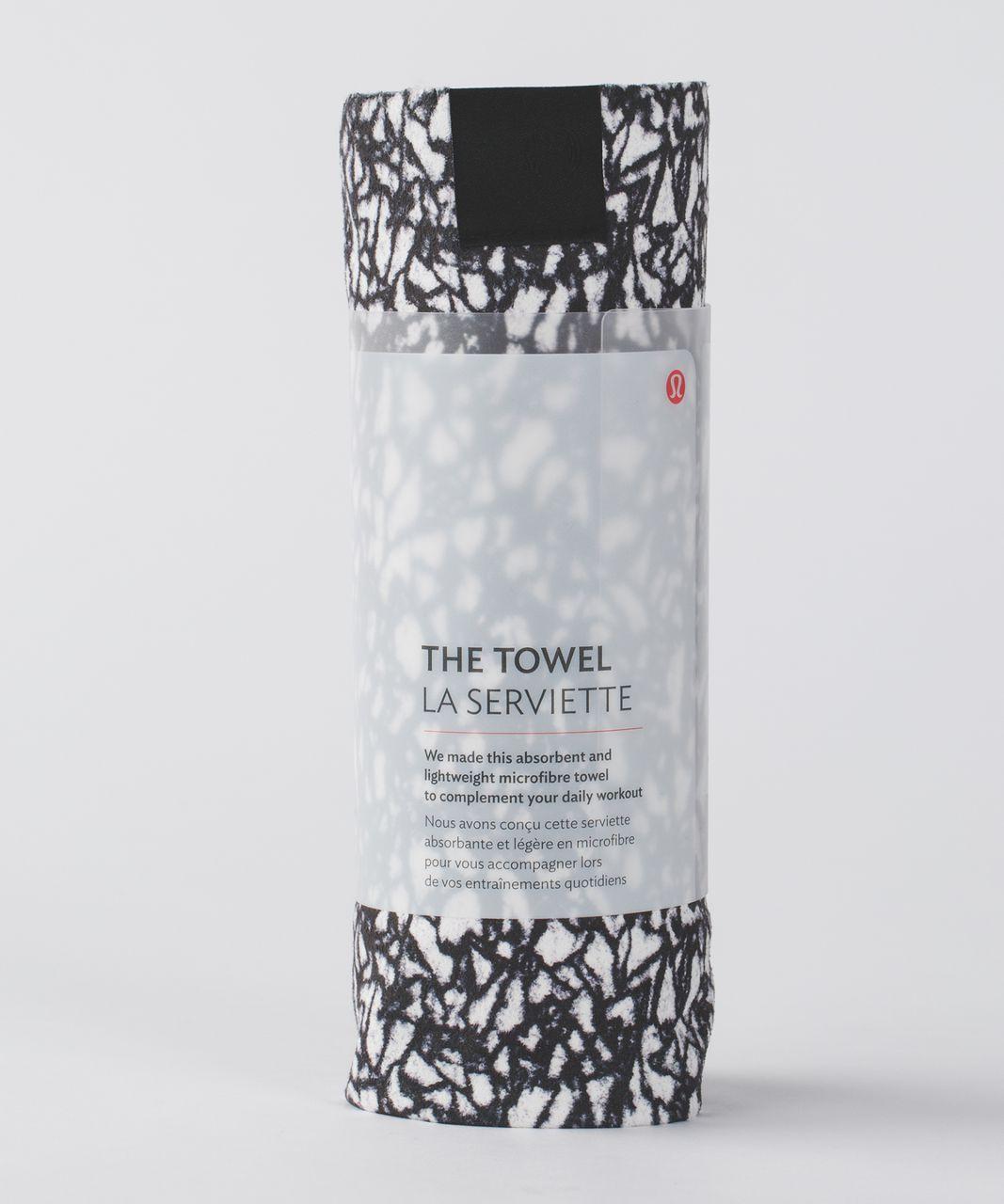 Lululemon The Towel - Ice Breaker White Black