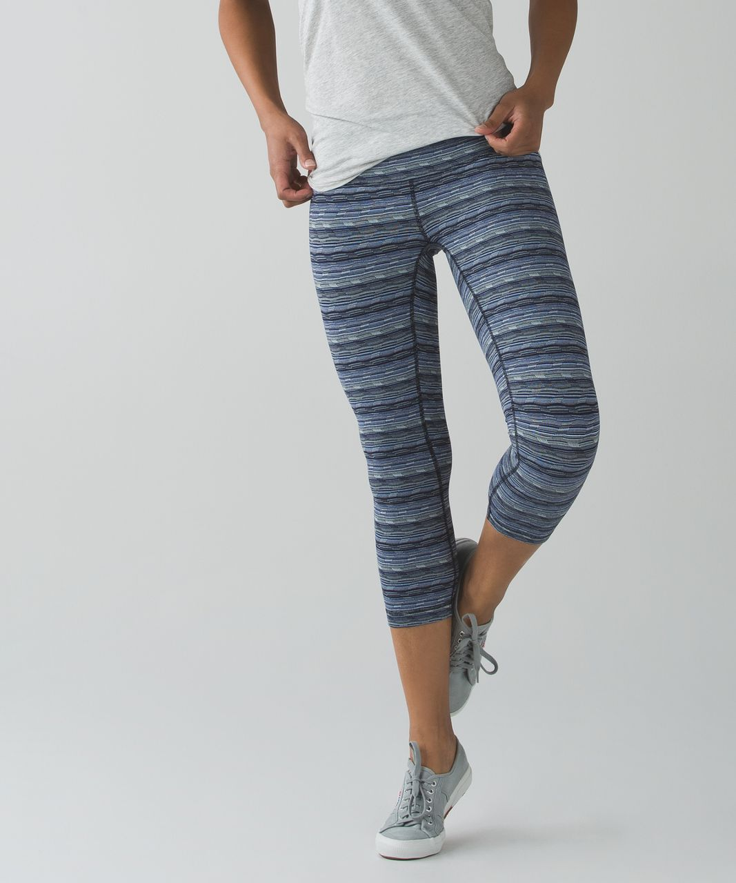 "Lululemon Wunder Under Crop III (21 1/2"") - Space Dye Twist Sapphire Blue Multi"