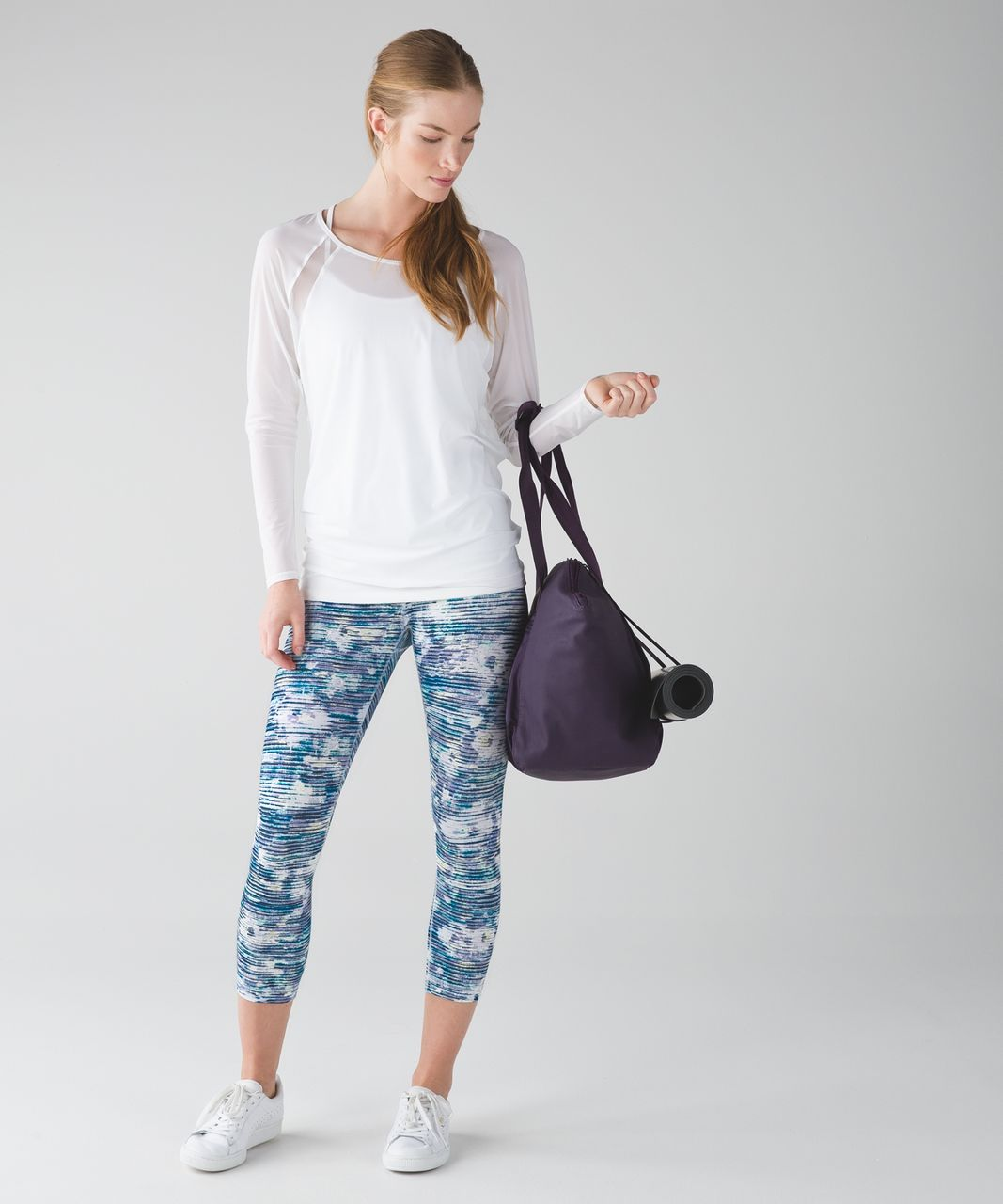 Lululemon Wunder Under Crop (Hi-Rise) - Blurry Belle Multi
